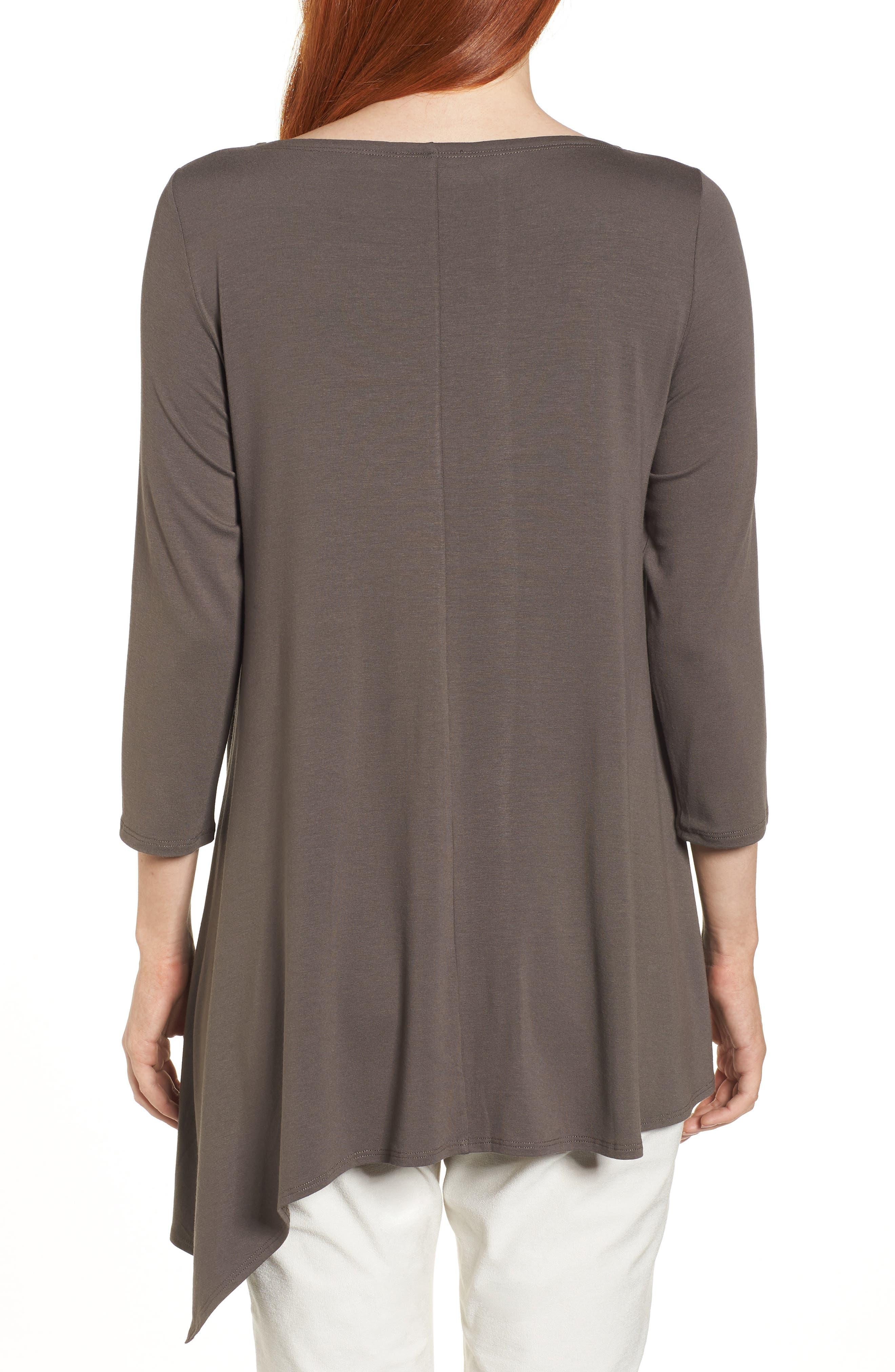 Asymmetrical Jersey Top,                             Alternate thumbnail 2, color,                             Rye