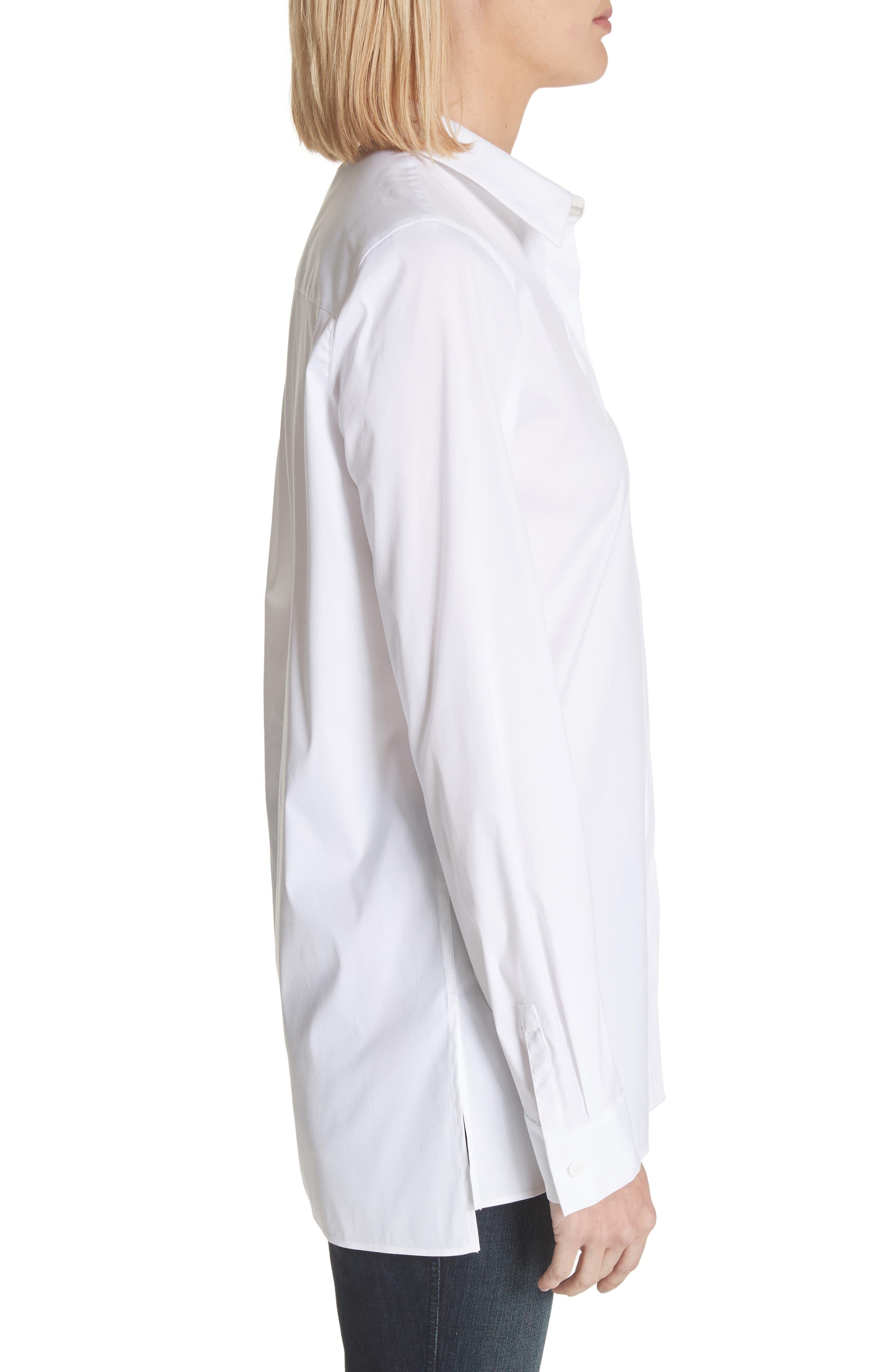 Brayden Excursion Stretch Blouse,                             Alternate thumbnail 3, color,                             White