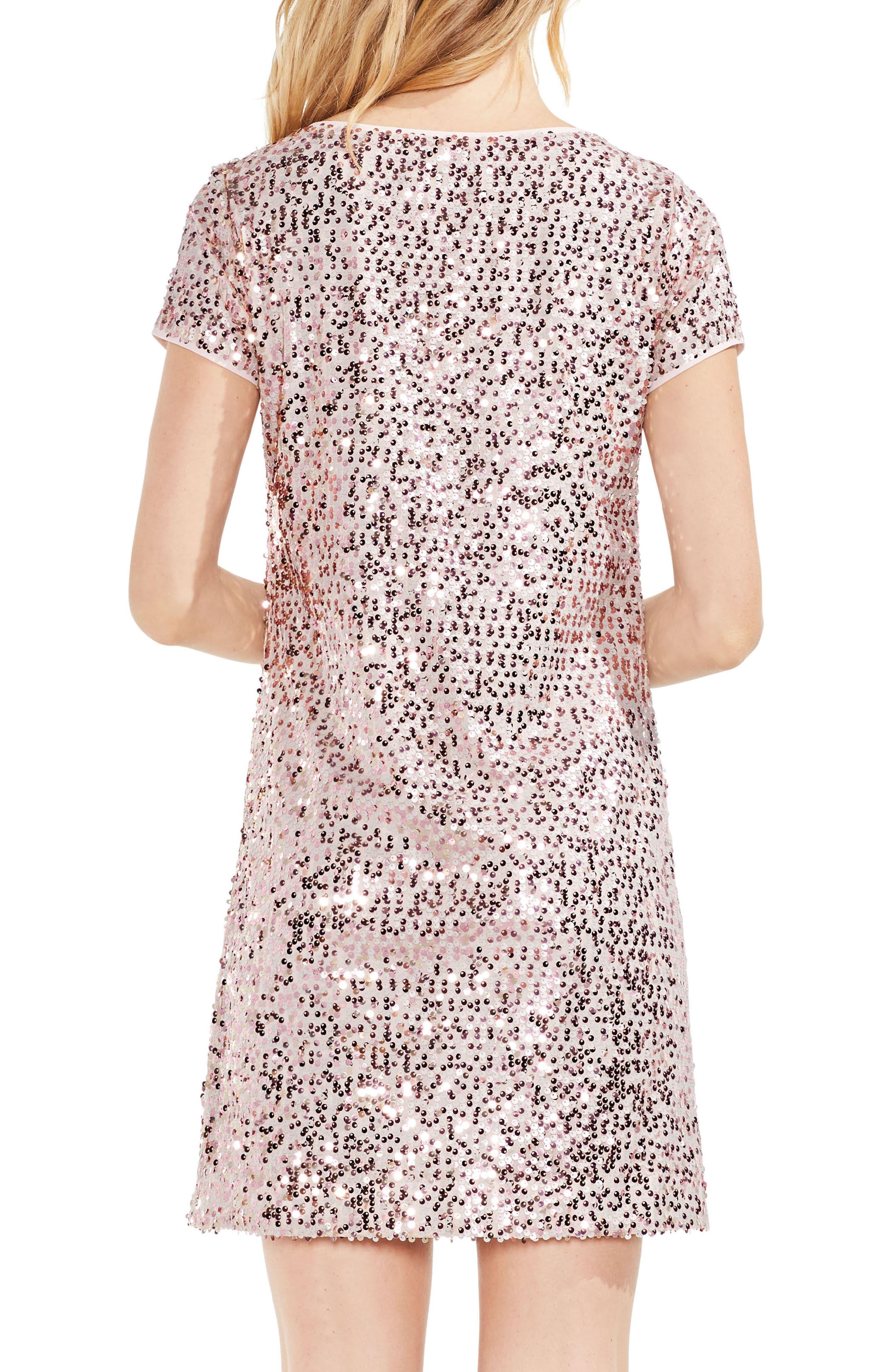 Alternate Image 2  - Vince Camuto Paillette Sequin Minidress