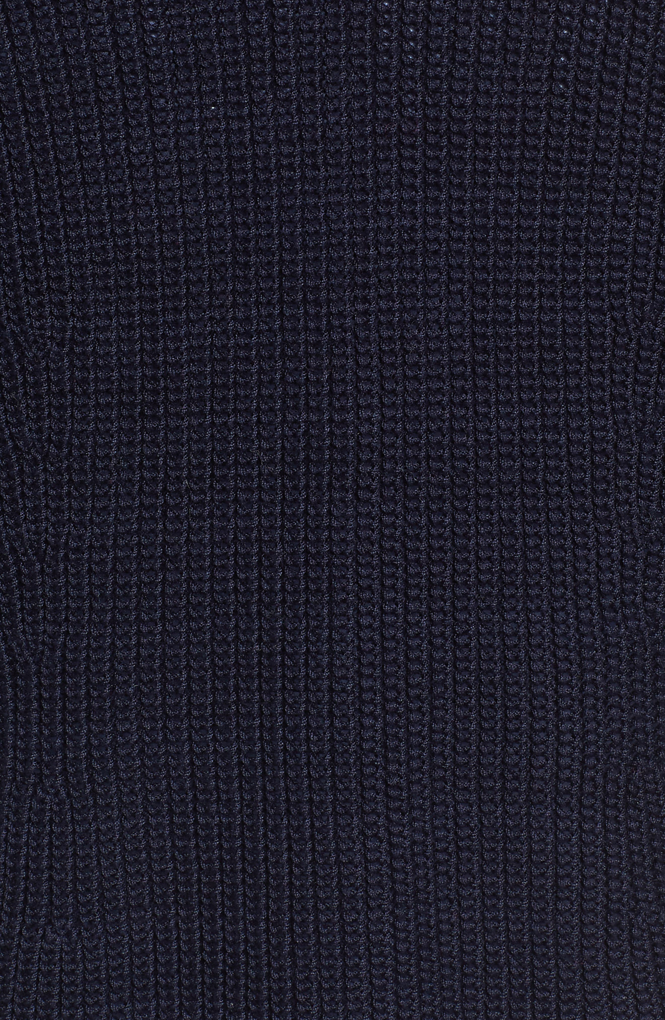 V-Neck Cotton Cardigan,                             Alternate thumbnail 5, color,                             Navy Night