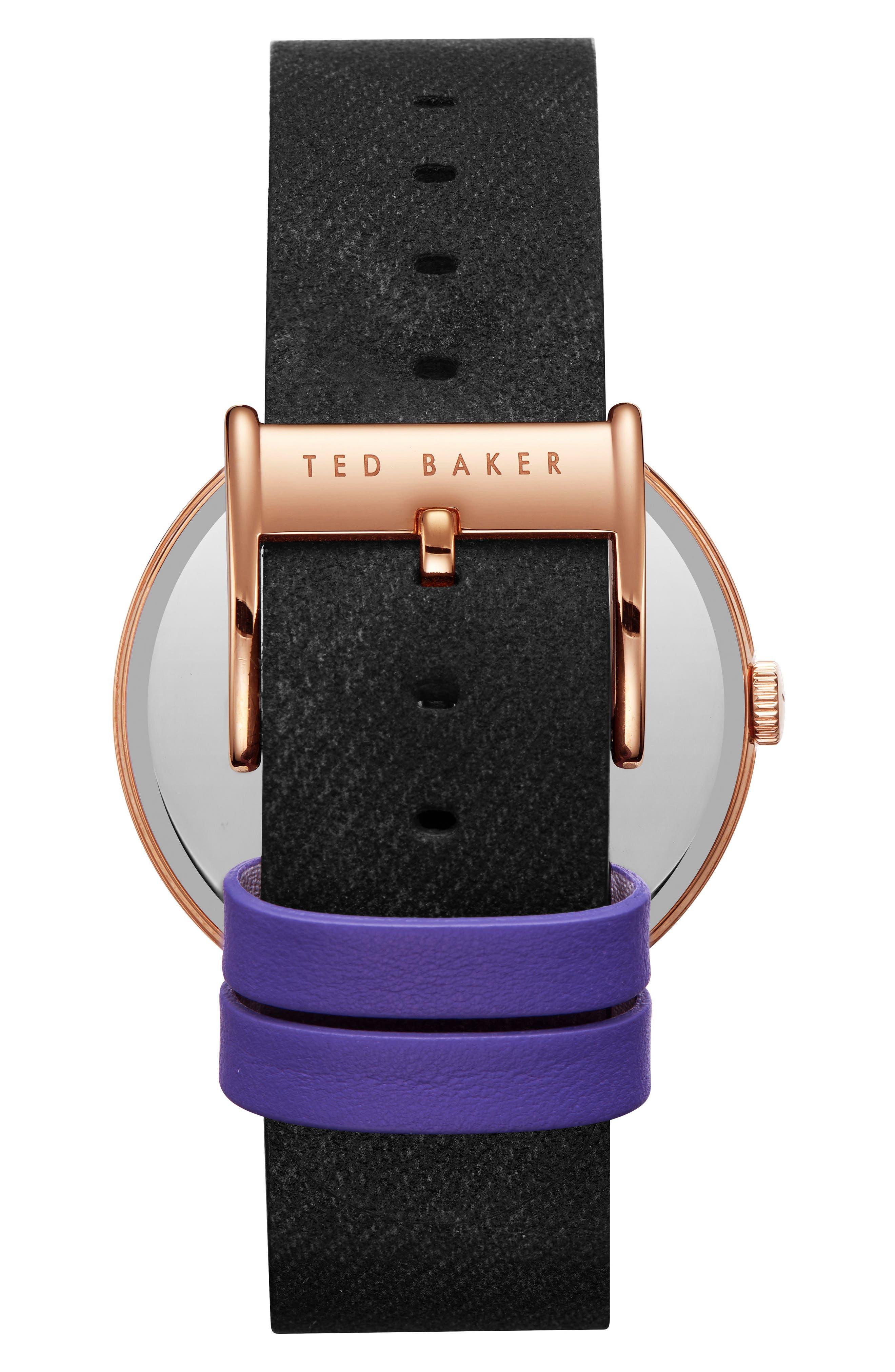 Daniel Synthetic Strap Watch, 42mm,                             Alternate thumbnail 2, color,                             Silver/ Black