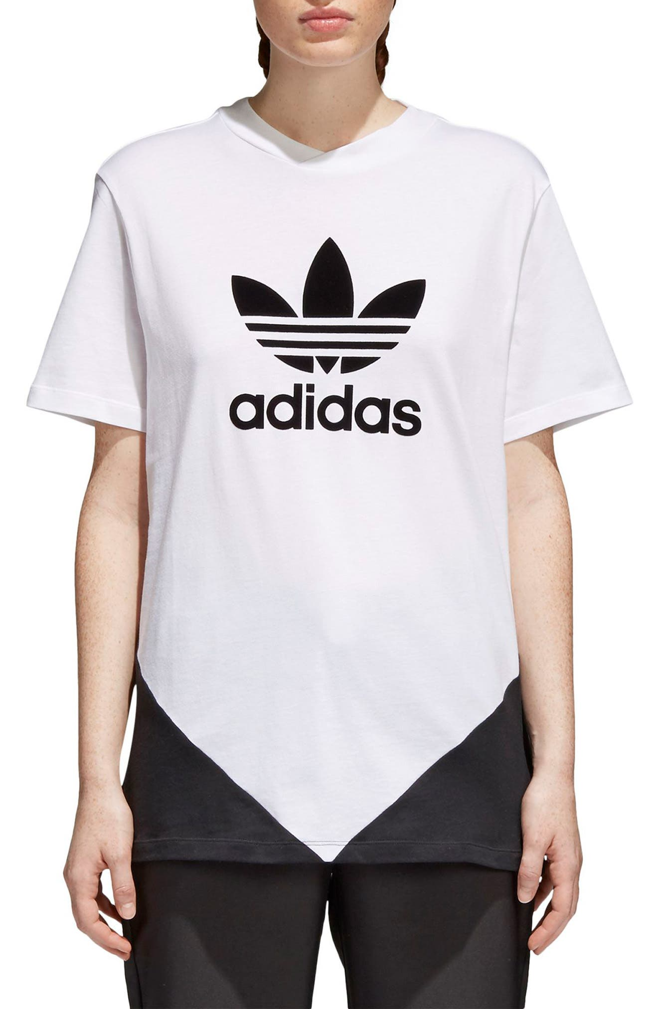 Originals CLRDO Tee,                         Main,                         color, White/ Black