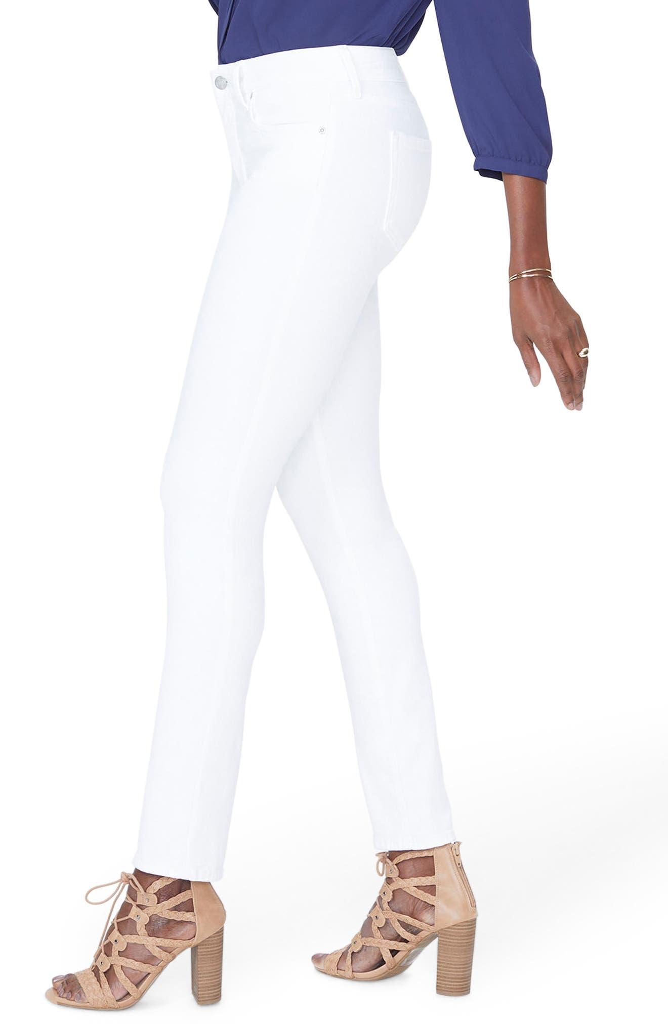 Sheri Slim Jeans,                             Alternate thumbnail 3, color,                             Optic White