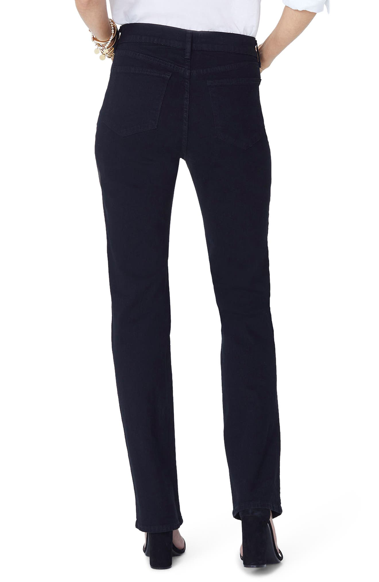 Marilyn Straight Jeans,                             Alternate thumbnail 2, color,                             Black