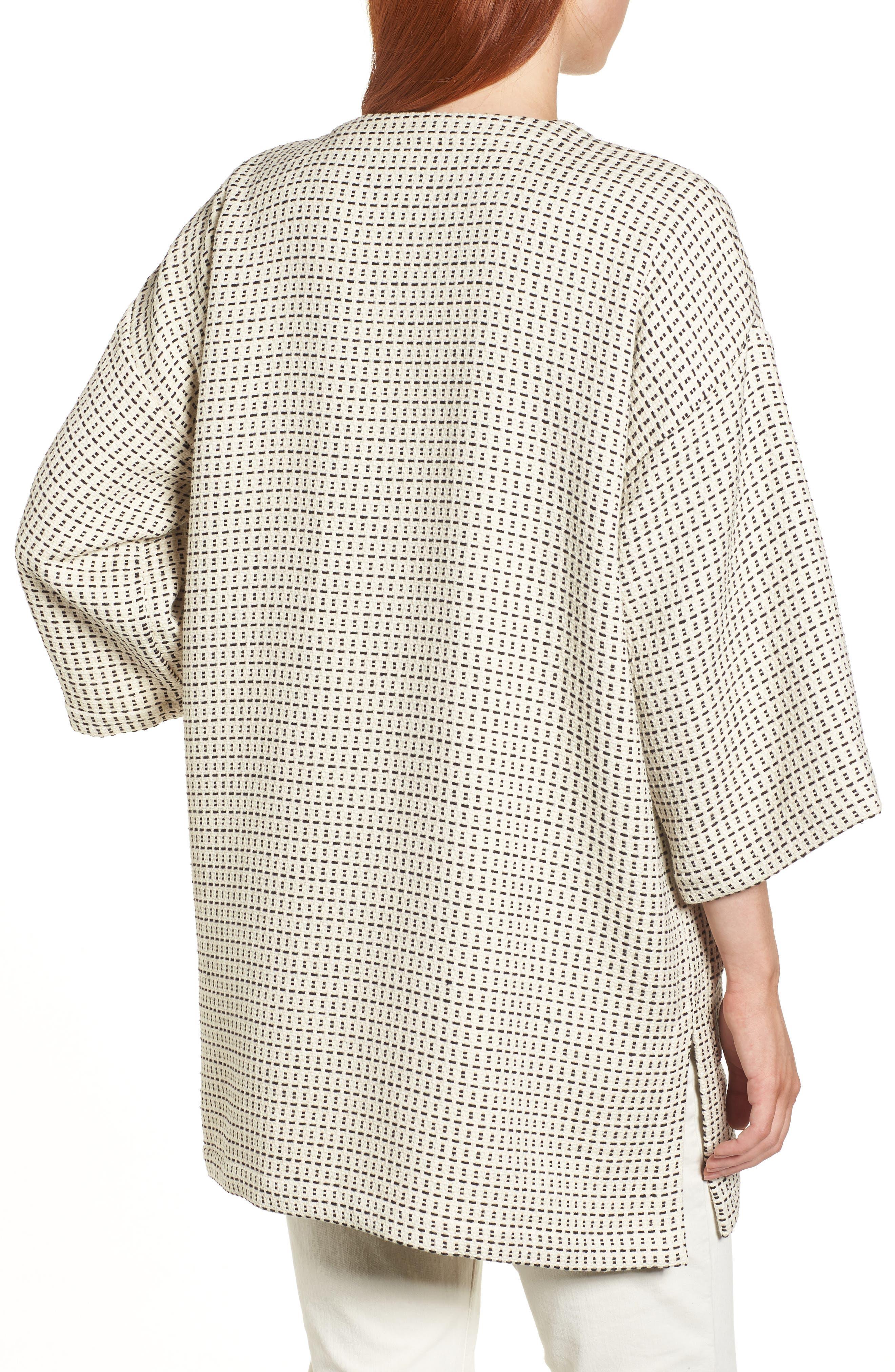 Round Neck Kimono Jacket,                             Alternate thumbnail 2, color,                             Ecru