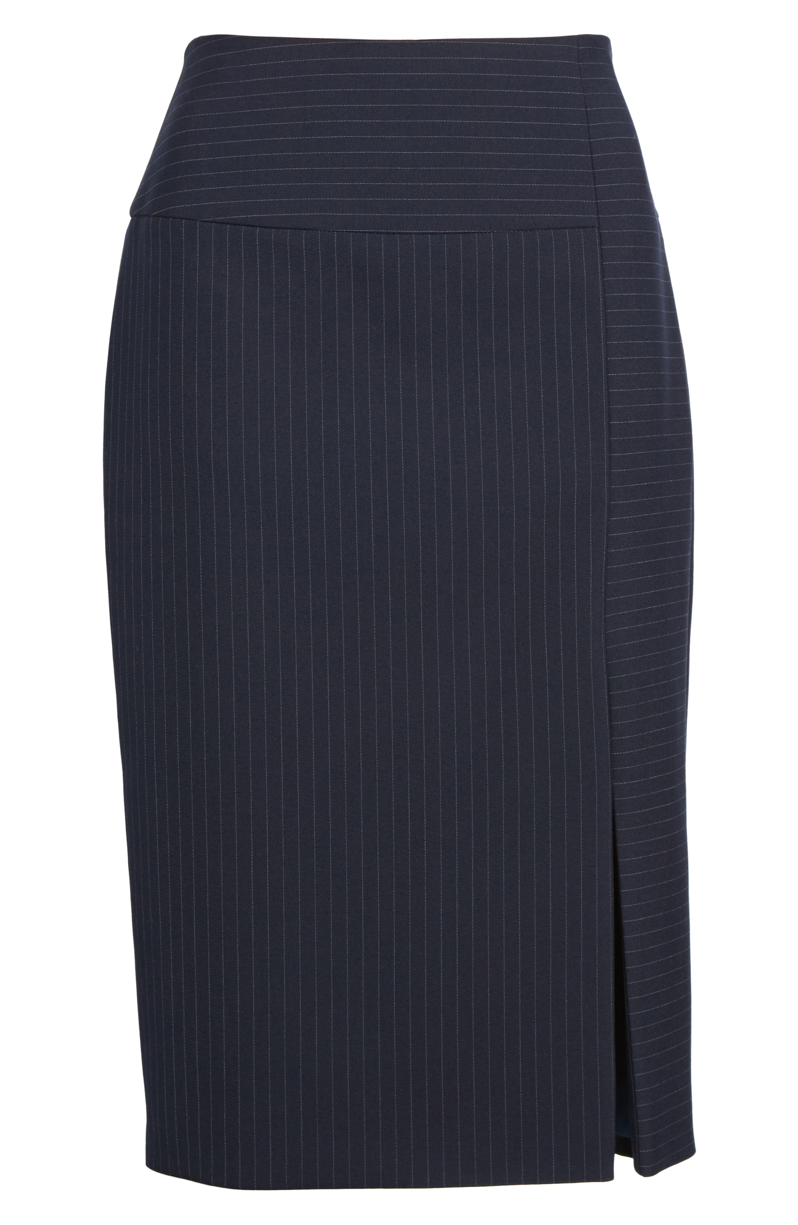 Vispana Pinstripe Suit Skirt,                             Alternate thumbnail 7, color,                             Nautical Fantasy