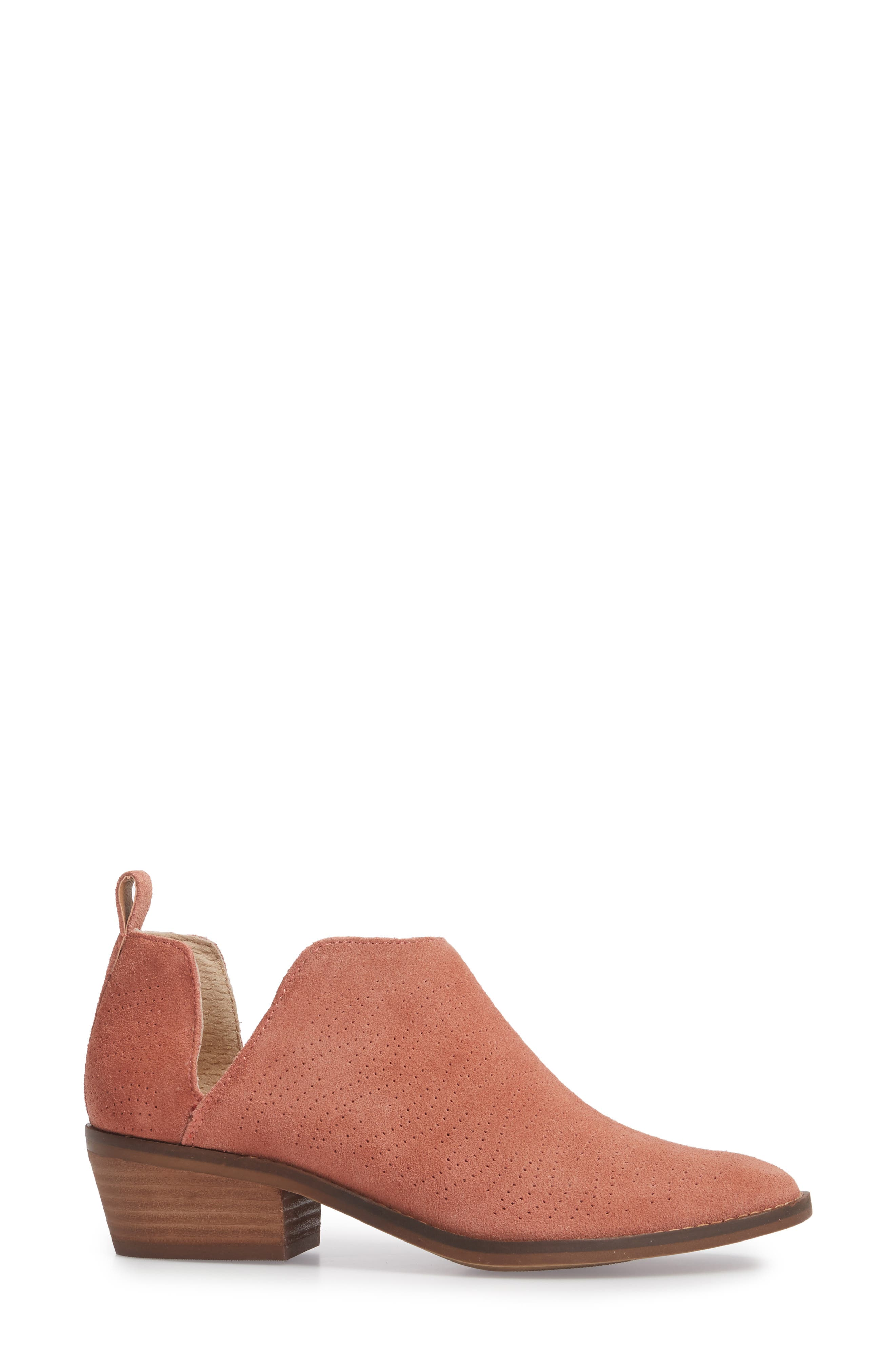 Fayth Bootie,                             Alternate thumbnail 3, color,                             Canyon Rose Suede