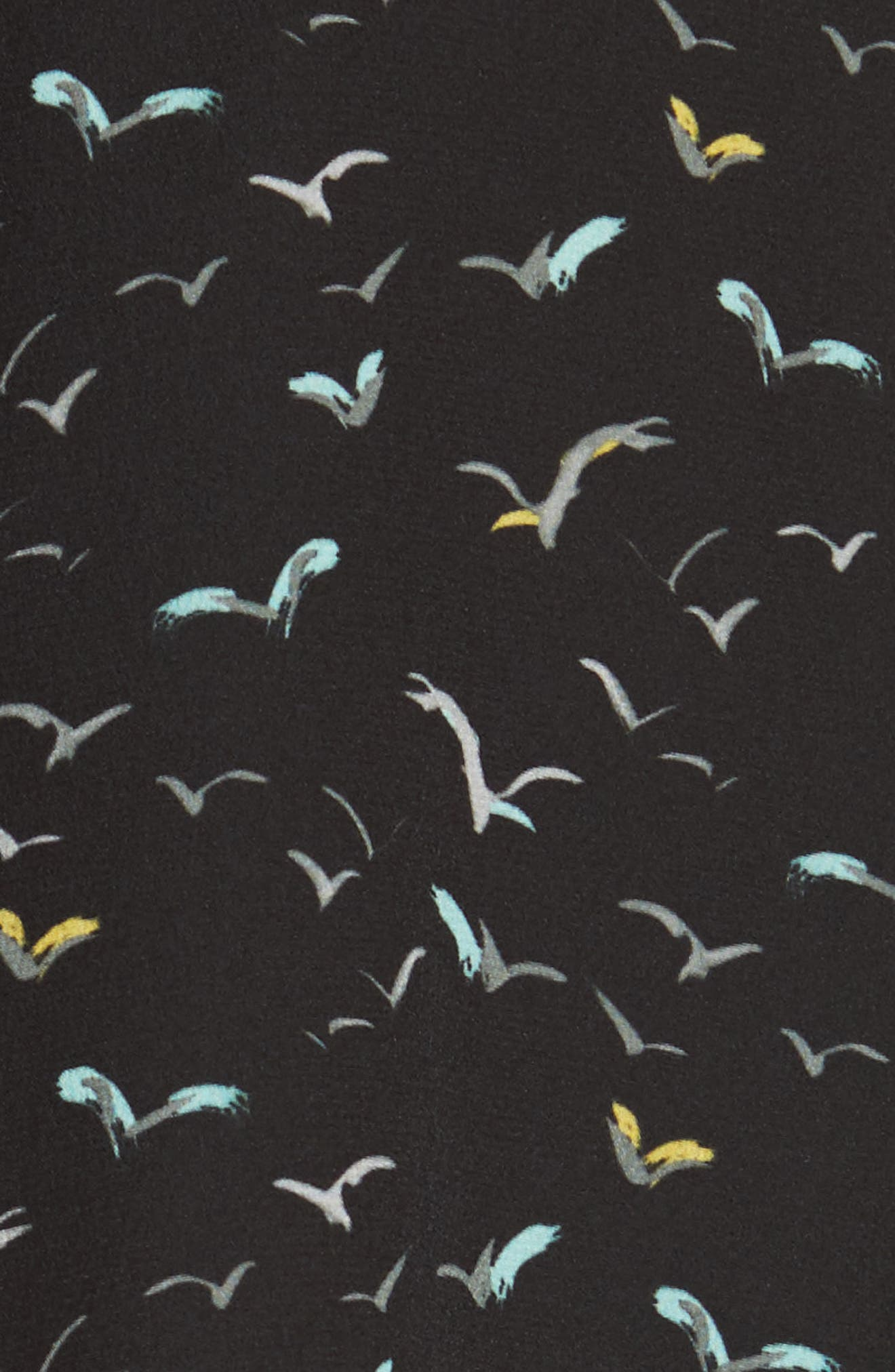 Brayden Print Silk Blouse,                             Alternate thumbnail 5, color,                             Black Multi
