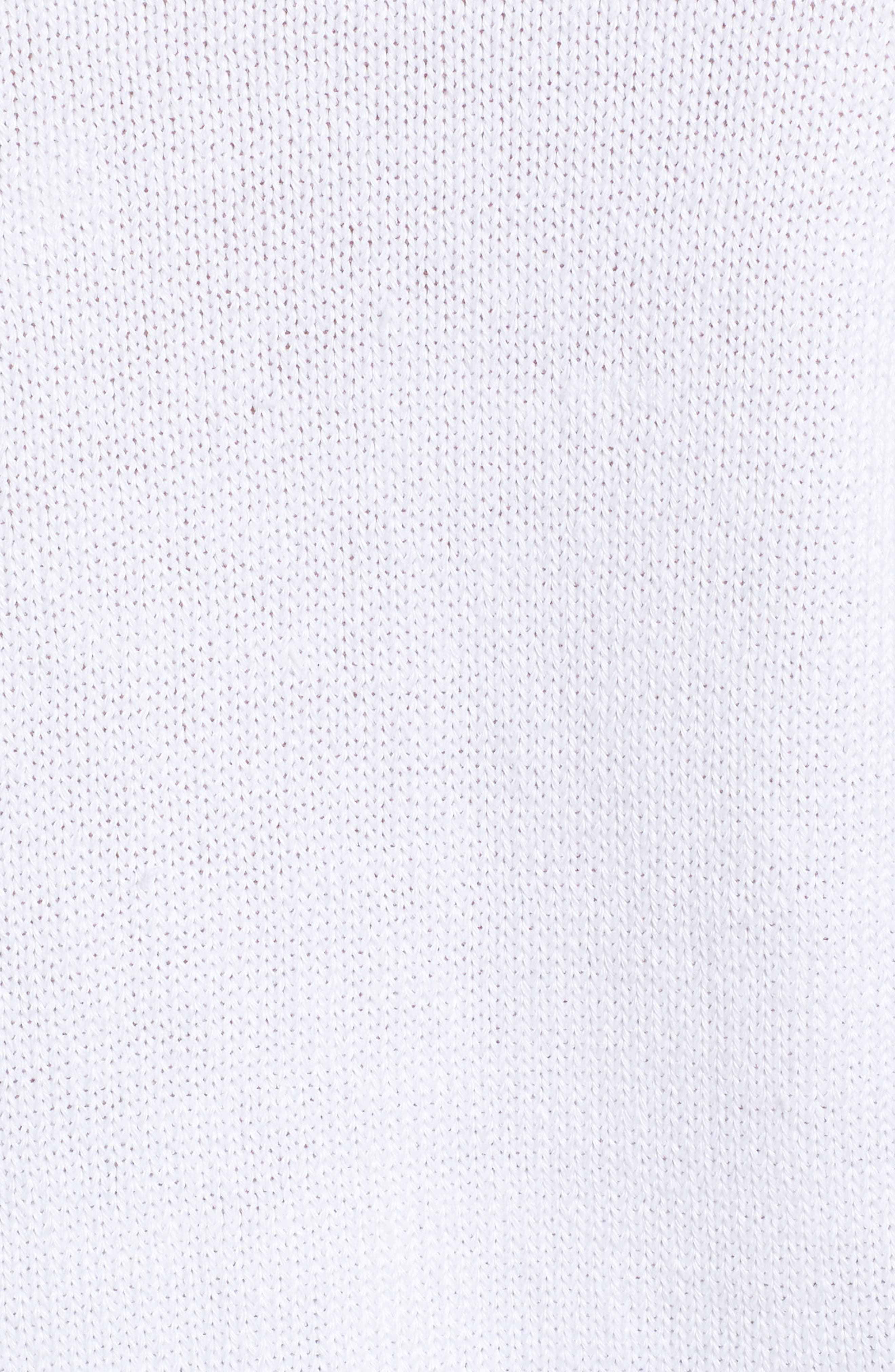 Textured Front V-Neck Sweater,                             Alternate thumbnail 5, color,                             White