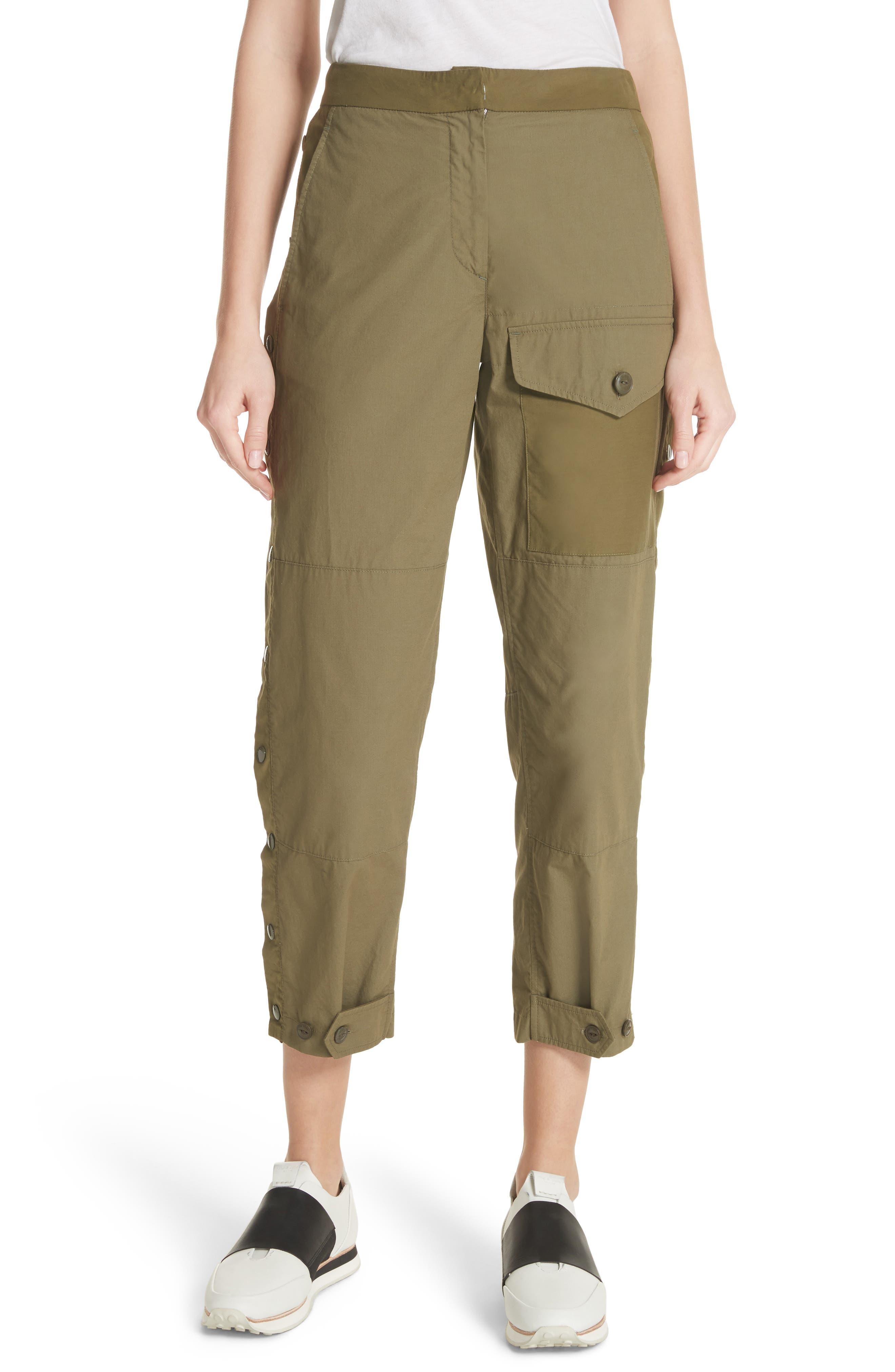 Marion Side Snap Pants,                         Main,                         color, Dark Olive