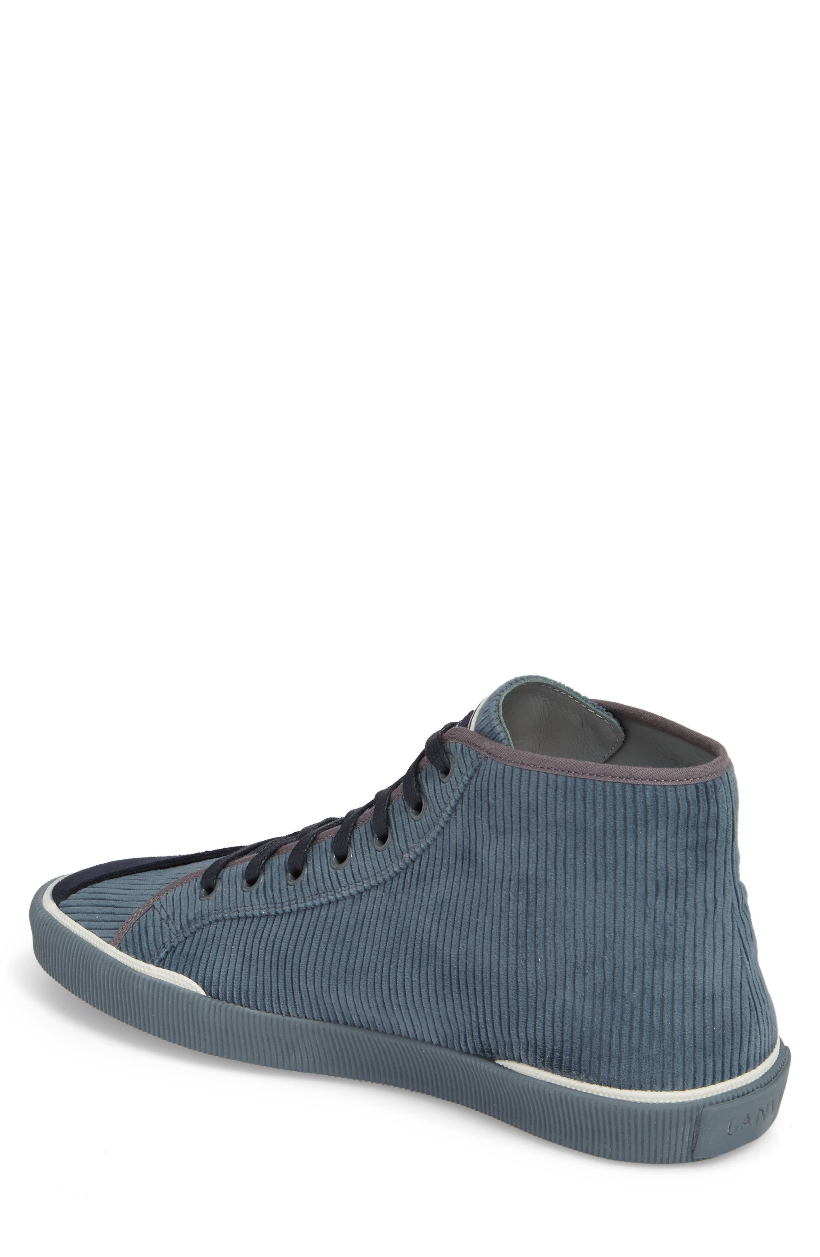 Mid Top Sneaker,                             Alternate thumbnail 2, color,                             Elephant Grey Suede