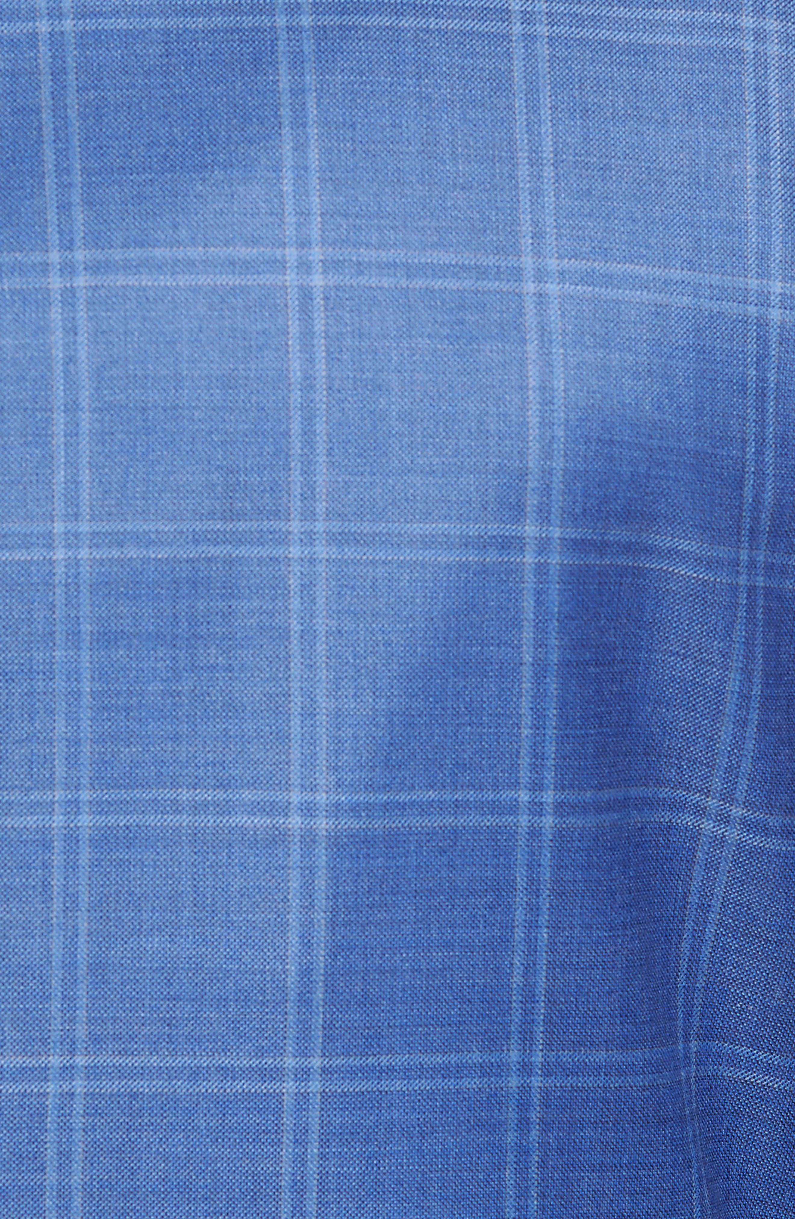Global Guardian Classic B Fit Windowpane Wool Sport Coat,                             Alternate thumbnail 5, color,                             Light Blue