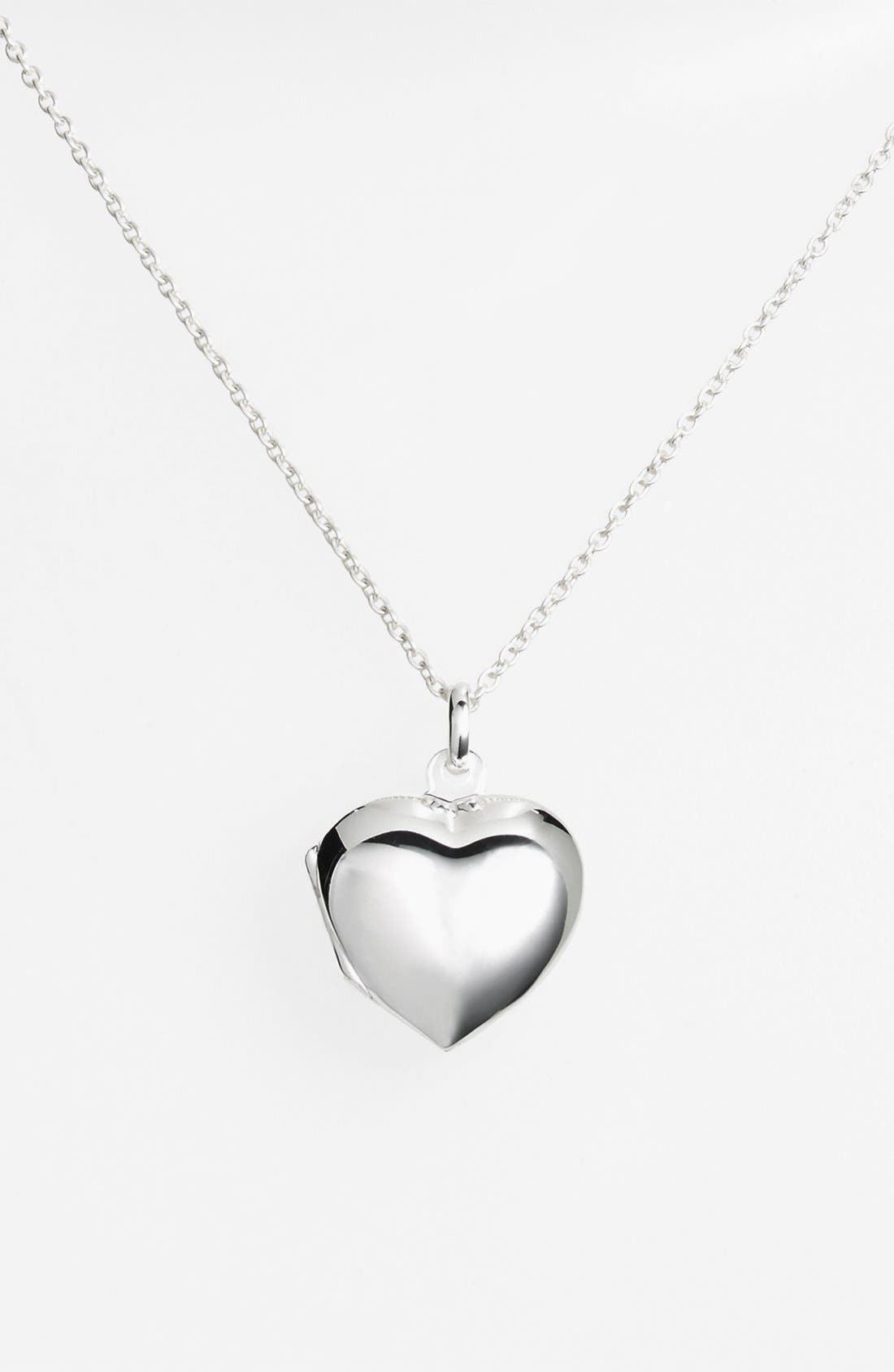 Alternate Image 1 Selected - Argento Vivo Heart Locket Pendant Necklace