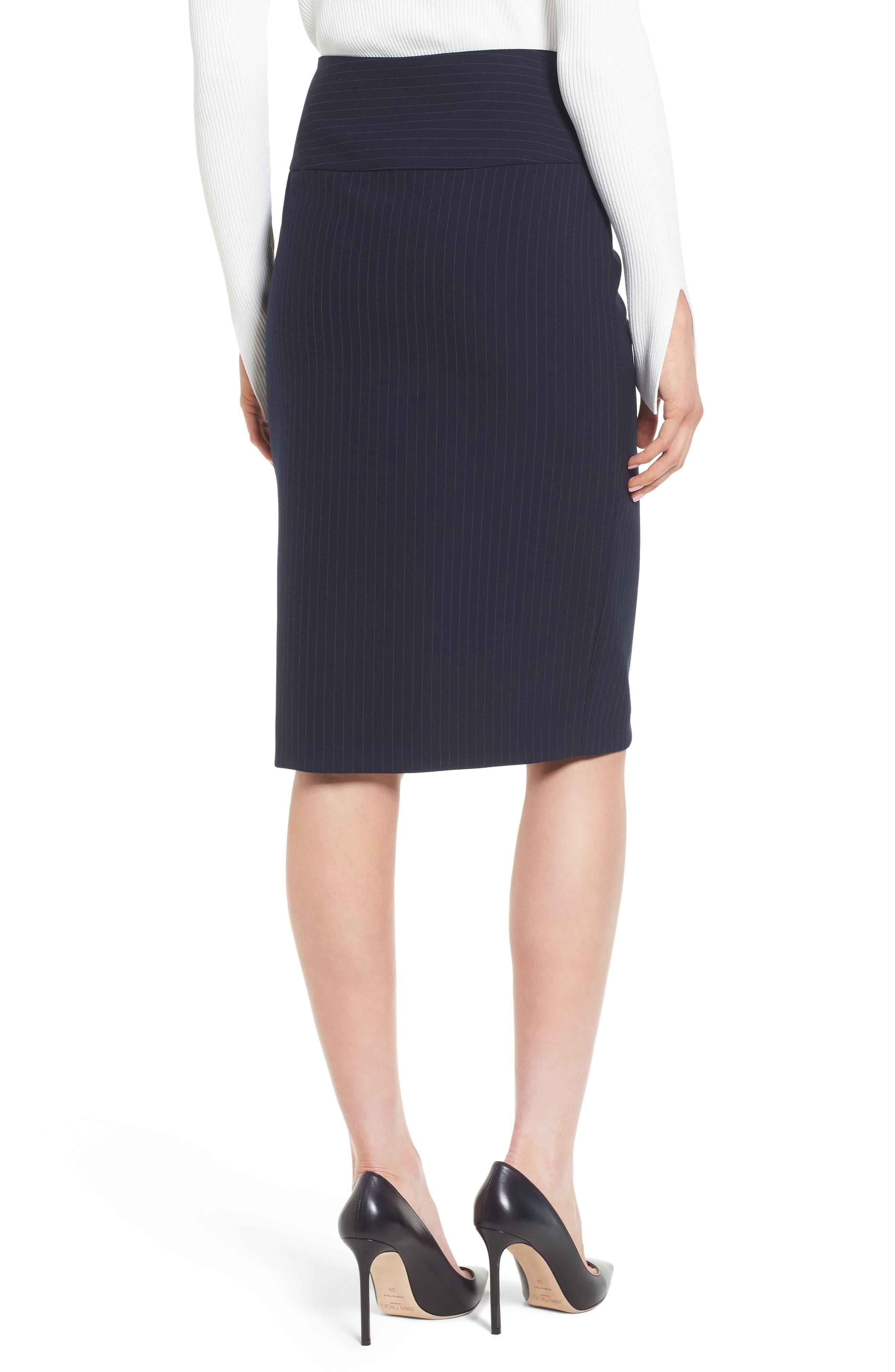 Vispana Pinstripe Suit Skirt,                             Alternate thumbnail 2, color,                             Nautical Fantasy