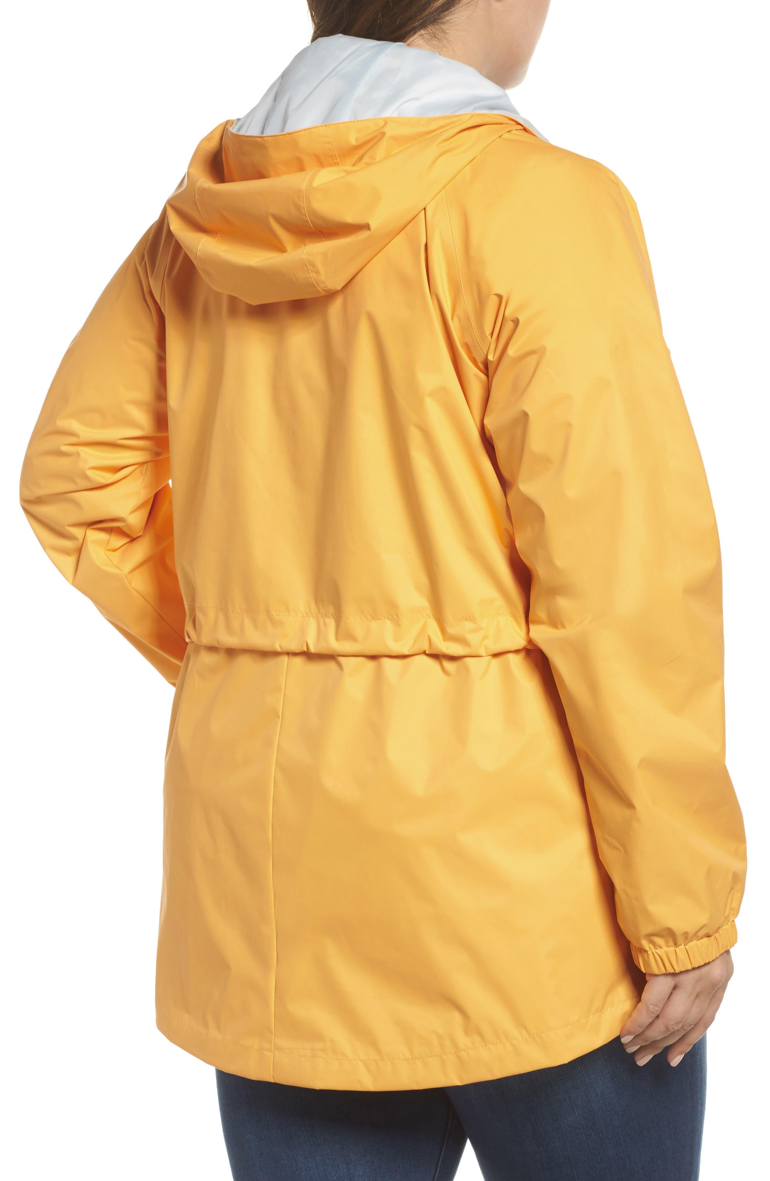 'Arcadia' Hooded Waterproof Casual Jacket,                             Alternate thumbnail 2, color,                             Yellow Ray Cirrus Grey