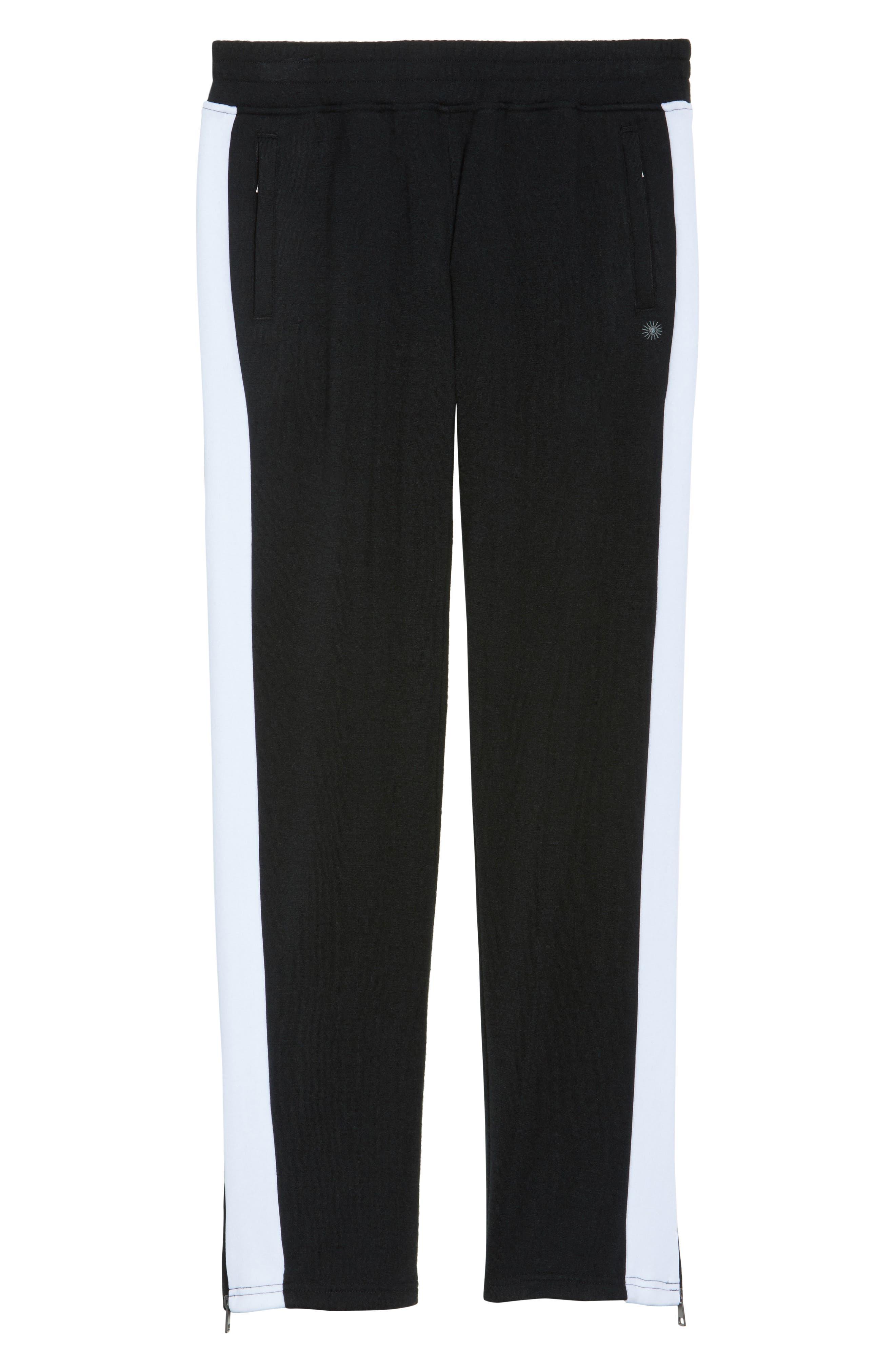 Lizy Track Pants,                             Alternate thumbnail 4, color,                             Black