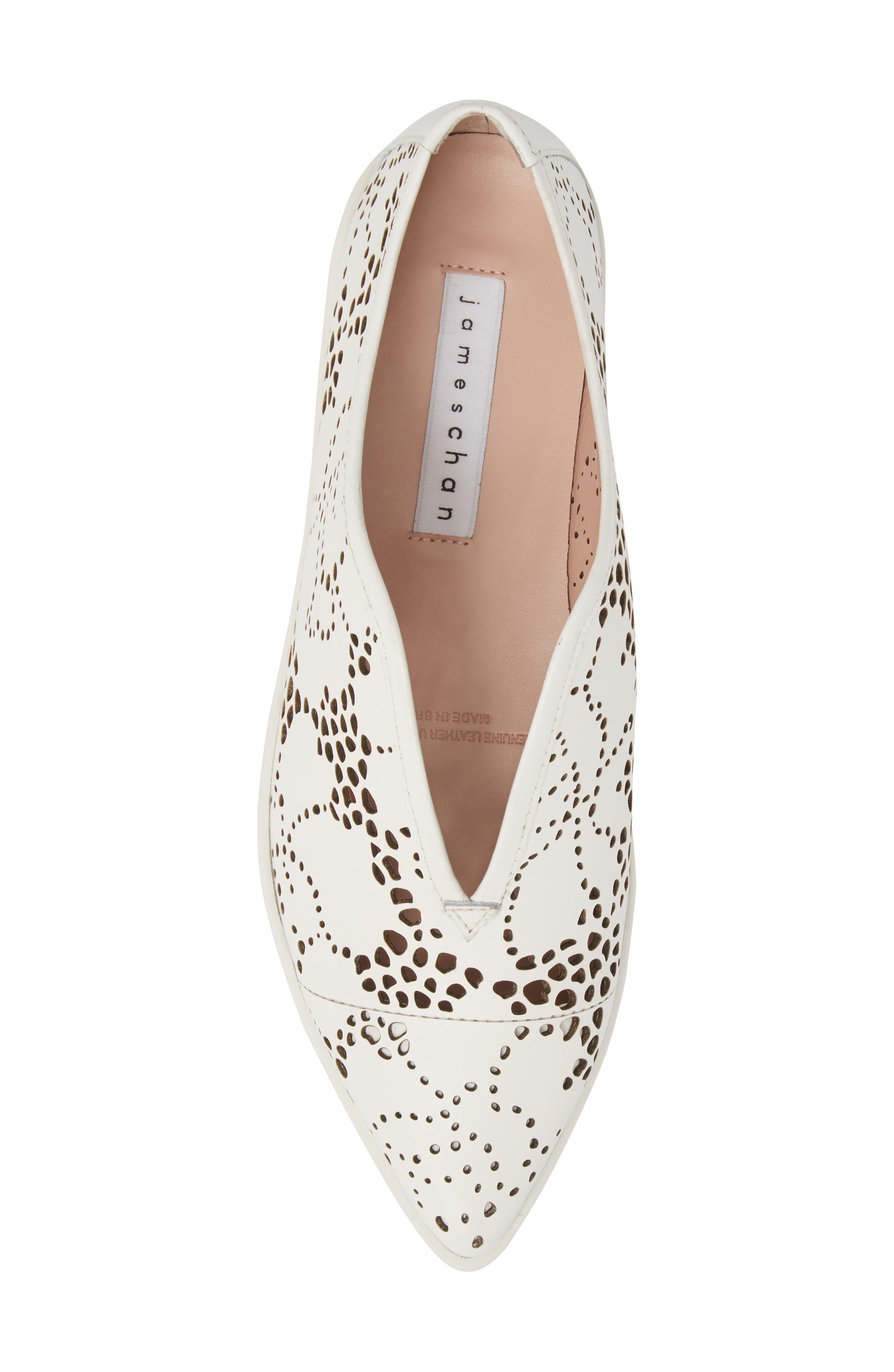 Tisha II Slip-On Sneaker,                             Alternate thumbnail 5, color,                             White Leather