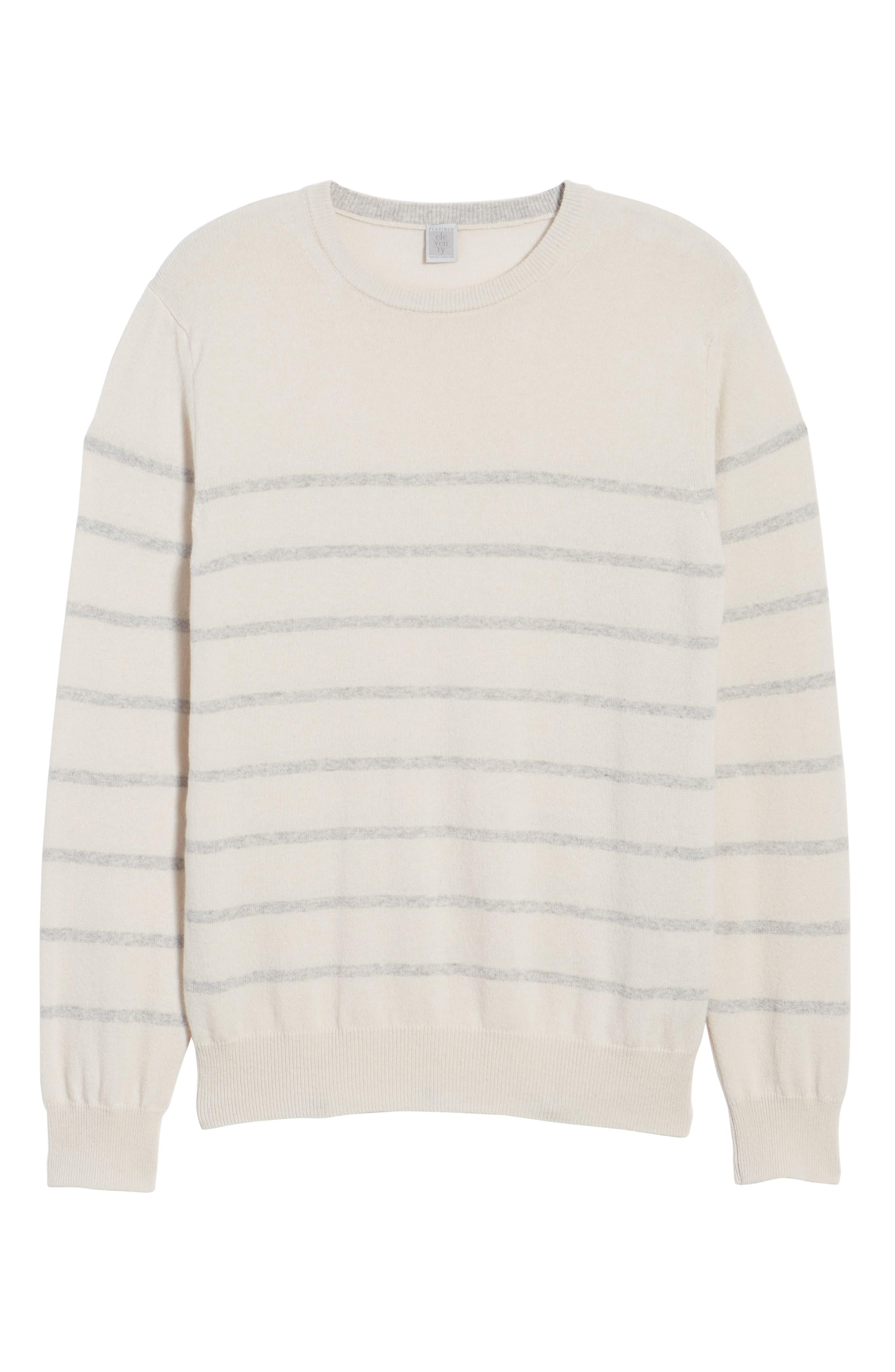 Cashmere Crewneck Sweater,                             Alternate thumbnail 6, color,                             Ivory