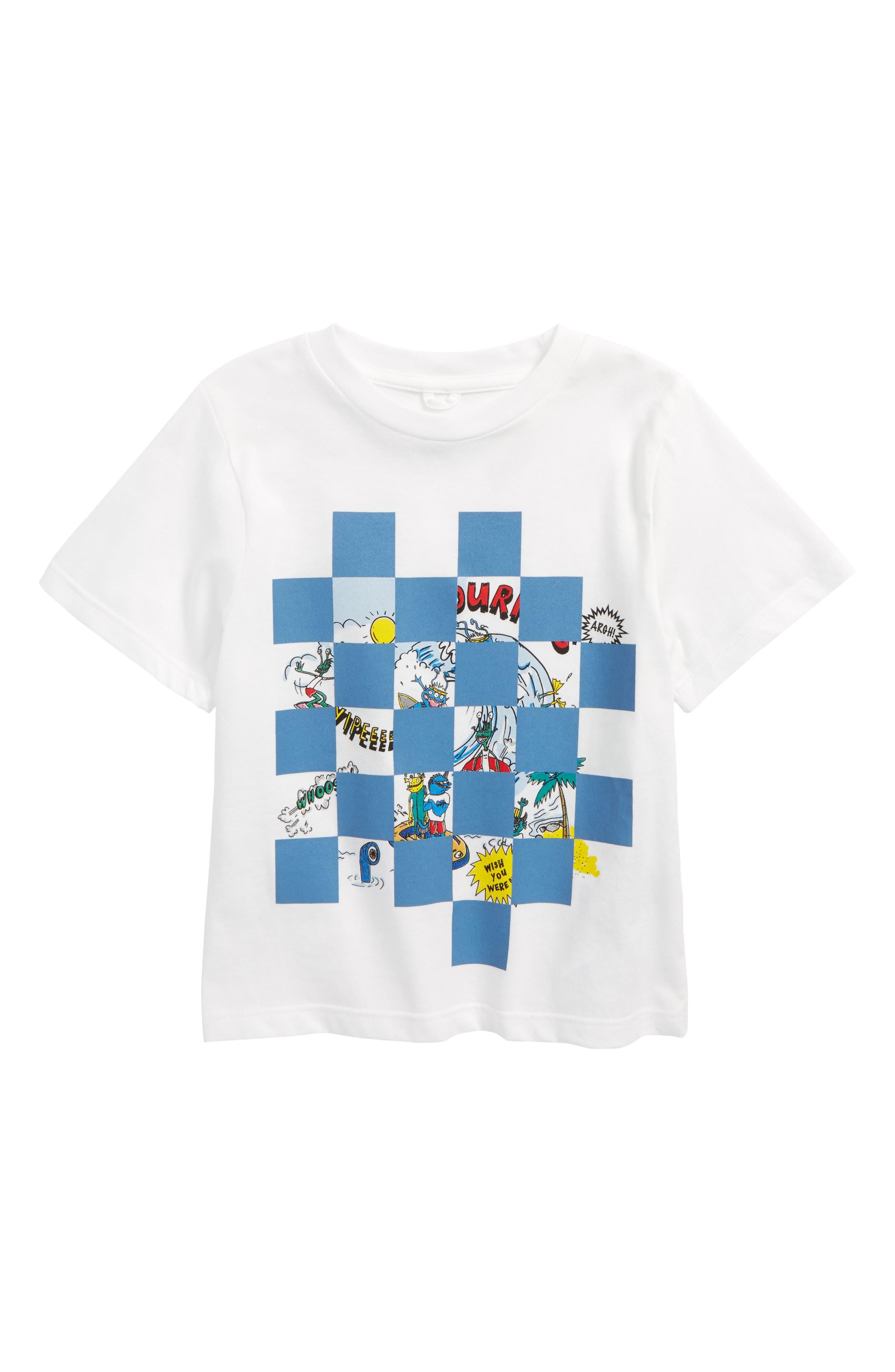 Main Image - Stella McCartney Arrow Checkered Cartoon T-Shirt (Toddler Boys, Little Boys & Big Boys)