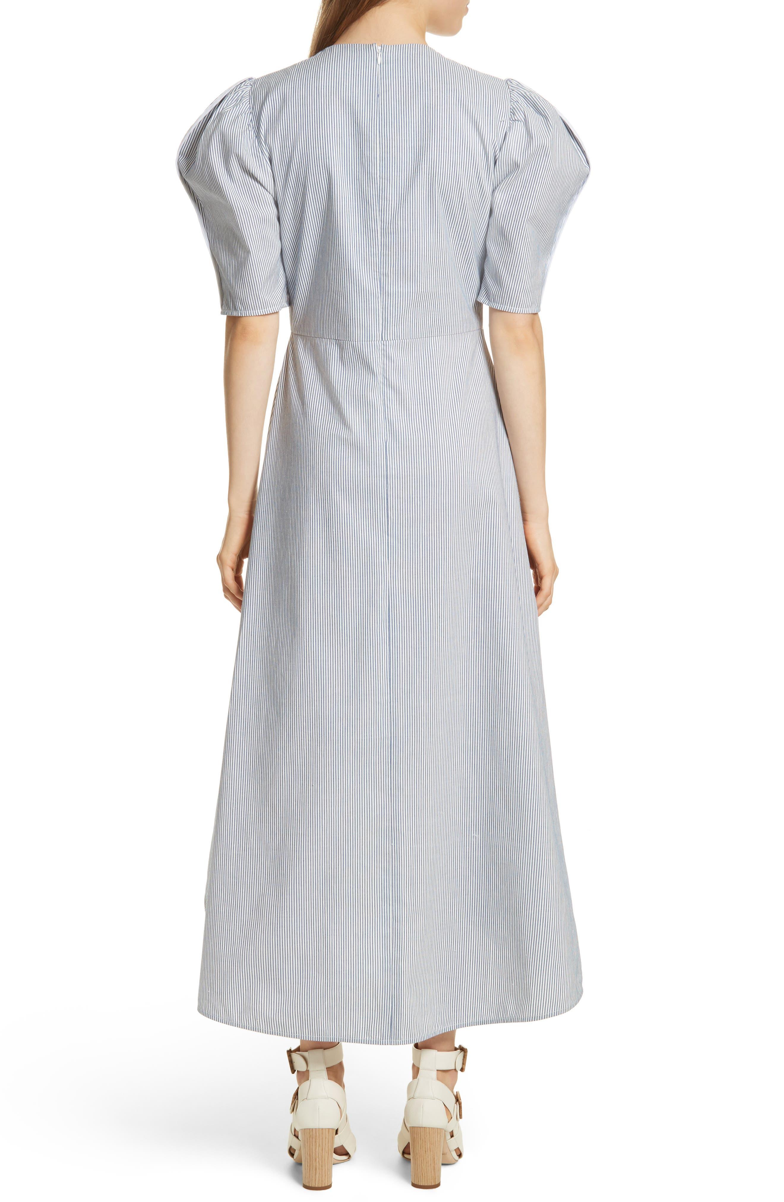 Prose & Poetry Camila Double Front Tie Midi Dress,                             Alternate thumbnail 2, color,                             Canvas Stripe