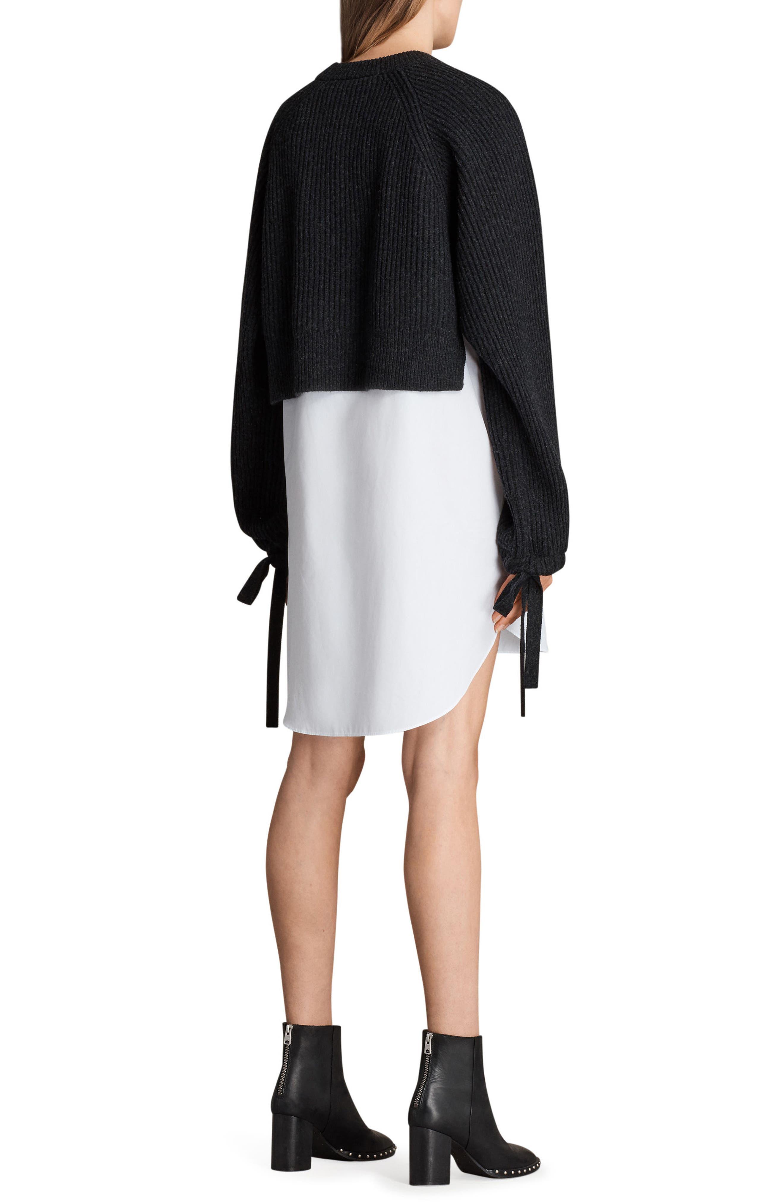 Sura Sweater Dress,                             Alternate thumbnail 2, color,                             Cinder Black Marl
