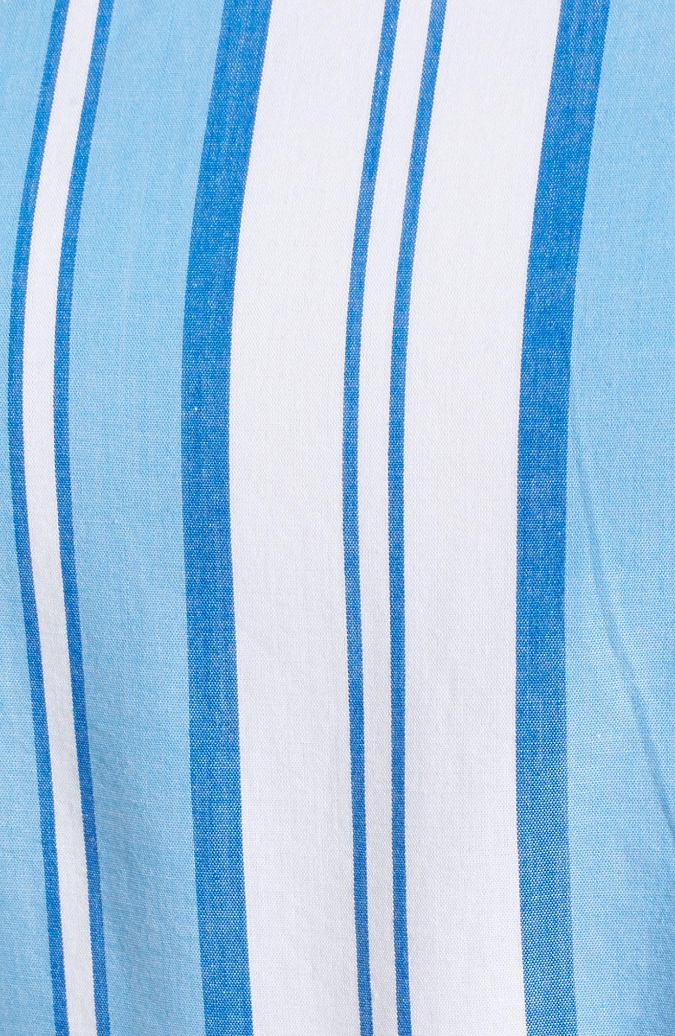 Ocean Stripe Tiered Maxi Dress,                             Alternate thumbnail 5, color,                             Blue Jay
