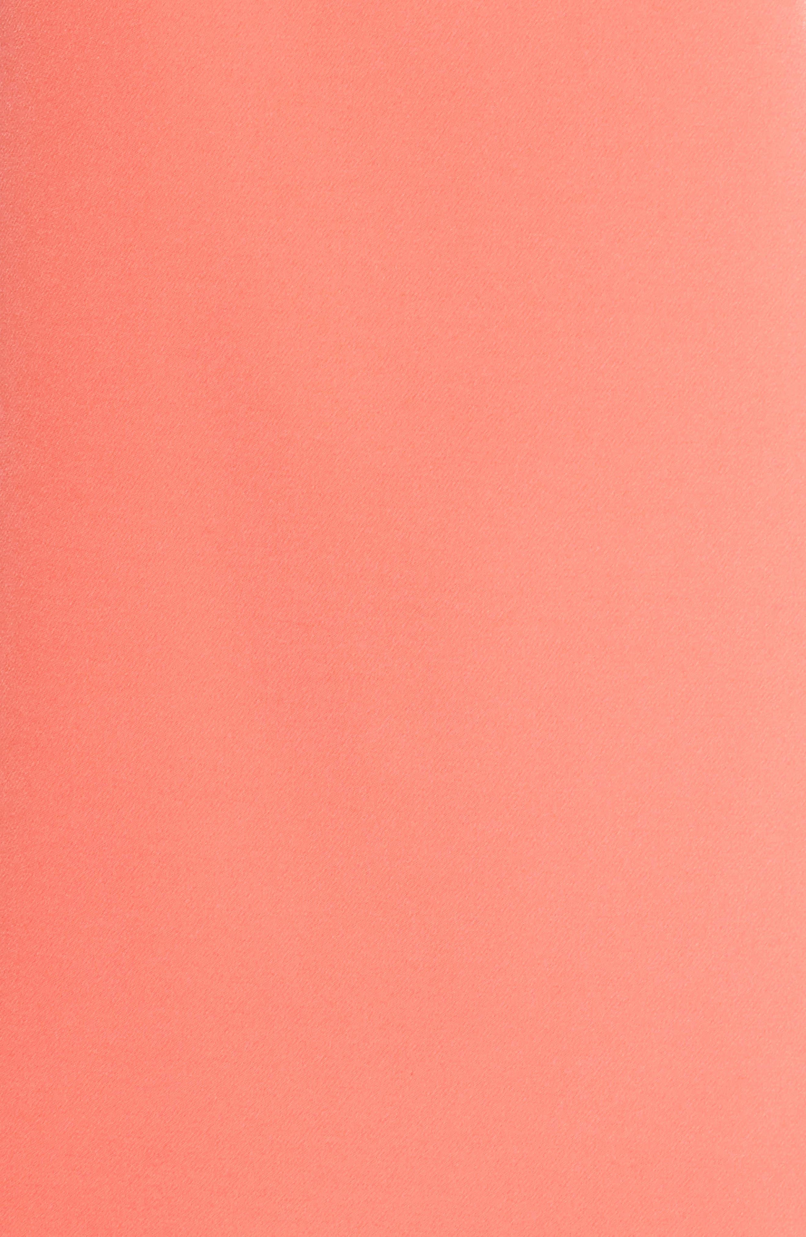 Halter Shift Dress,                             Alternate thumbnail 6, color,                             Sun Salmon