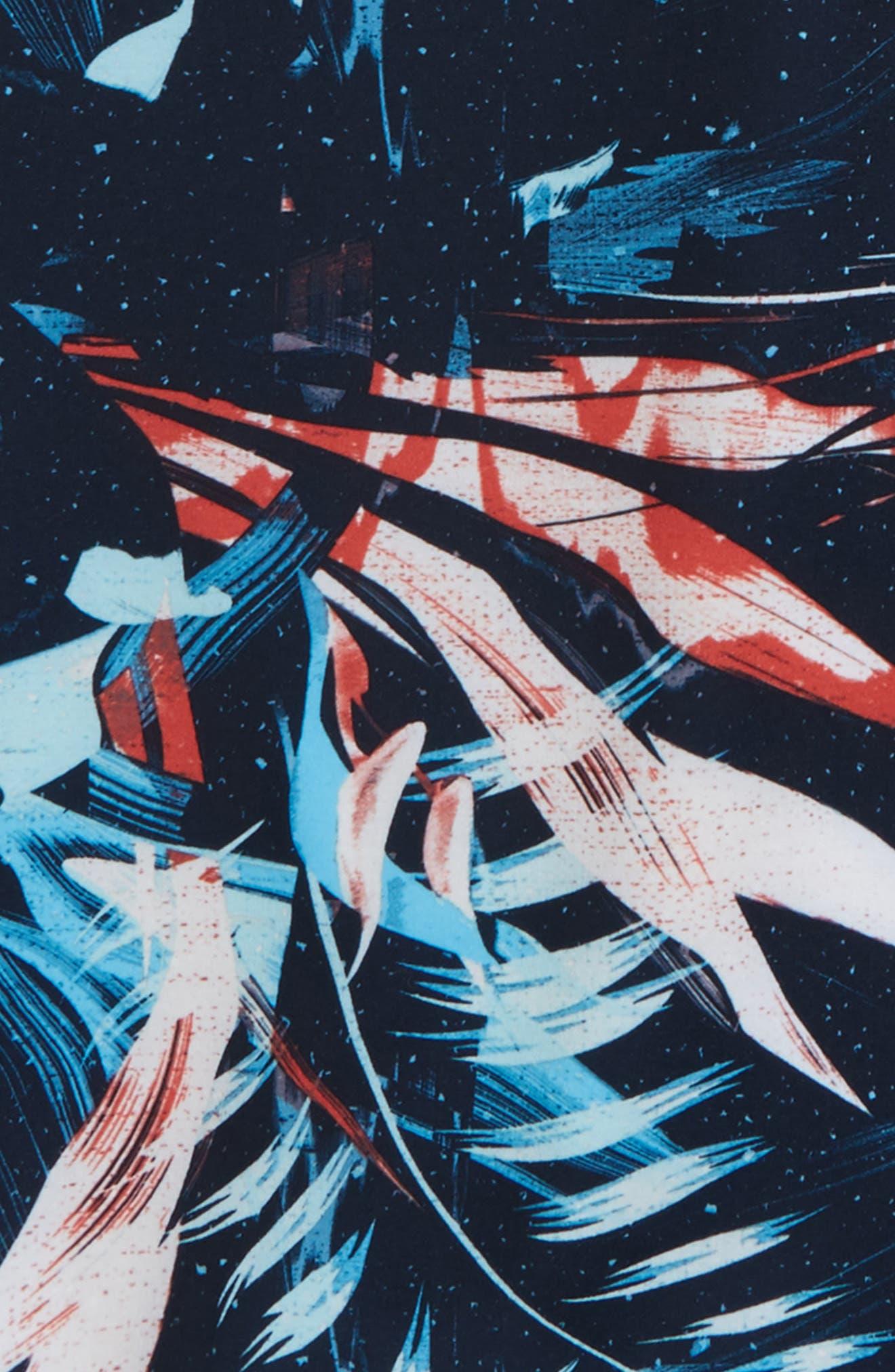 Hyperfreak Ruins Board Shorts,                             Alternate thumbnail 3, color,                             Navy