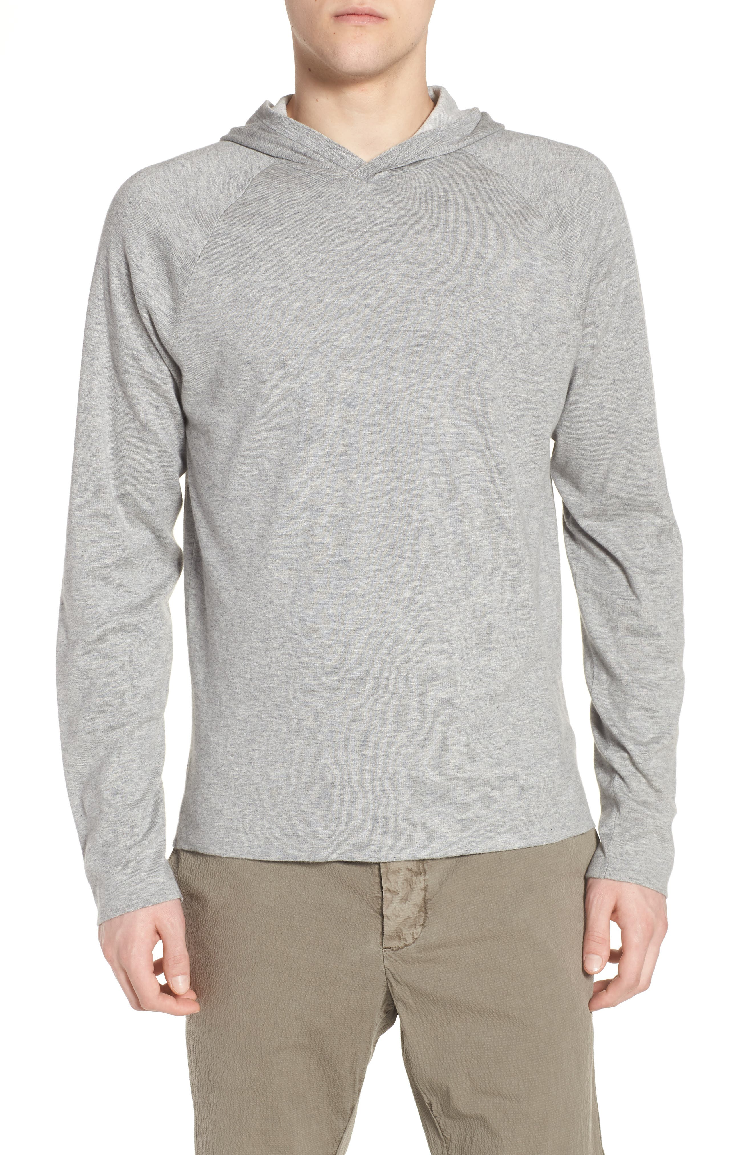 Reversible Hooded Sweater,                         Main,                         color, Heather Grey/ Platinum