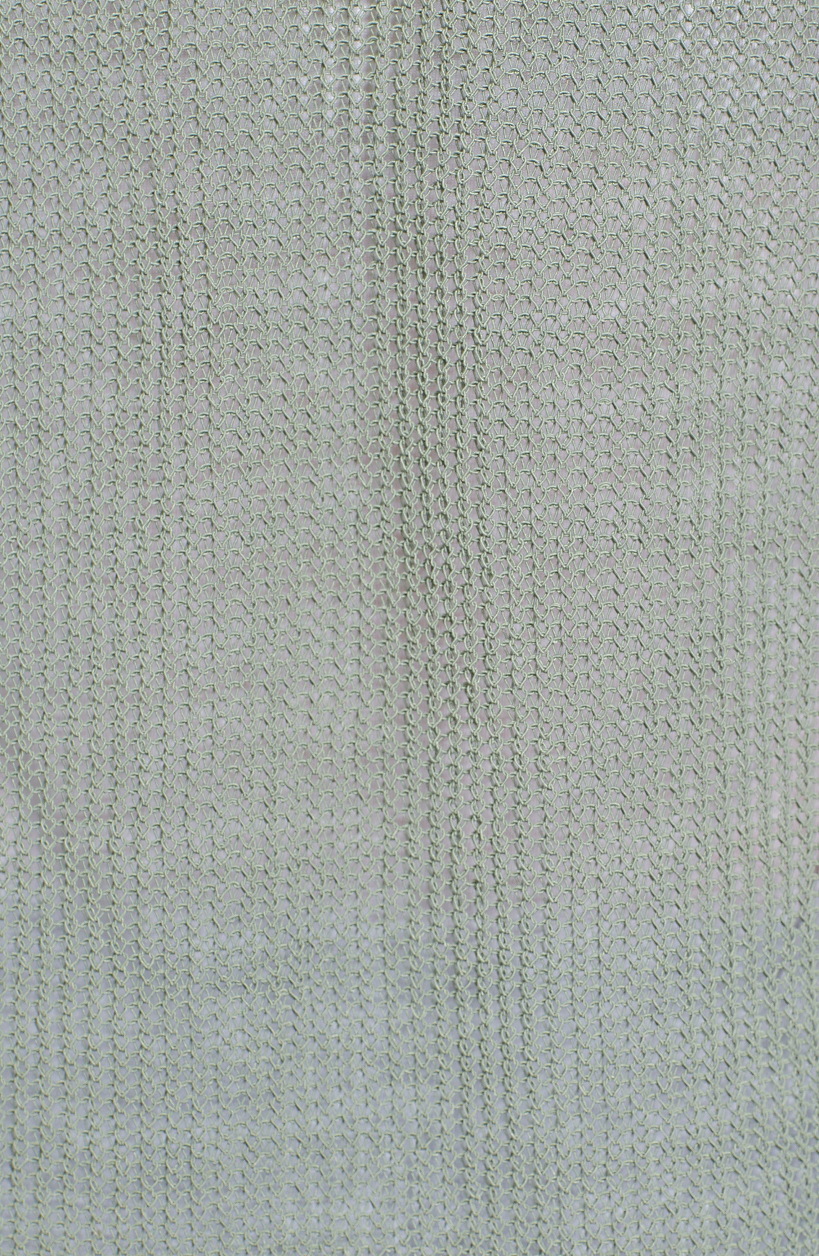 Open Cotton Blend Cardigan,                             Alternate thumbnail 5, color,                             Green Lilypad