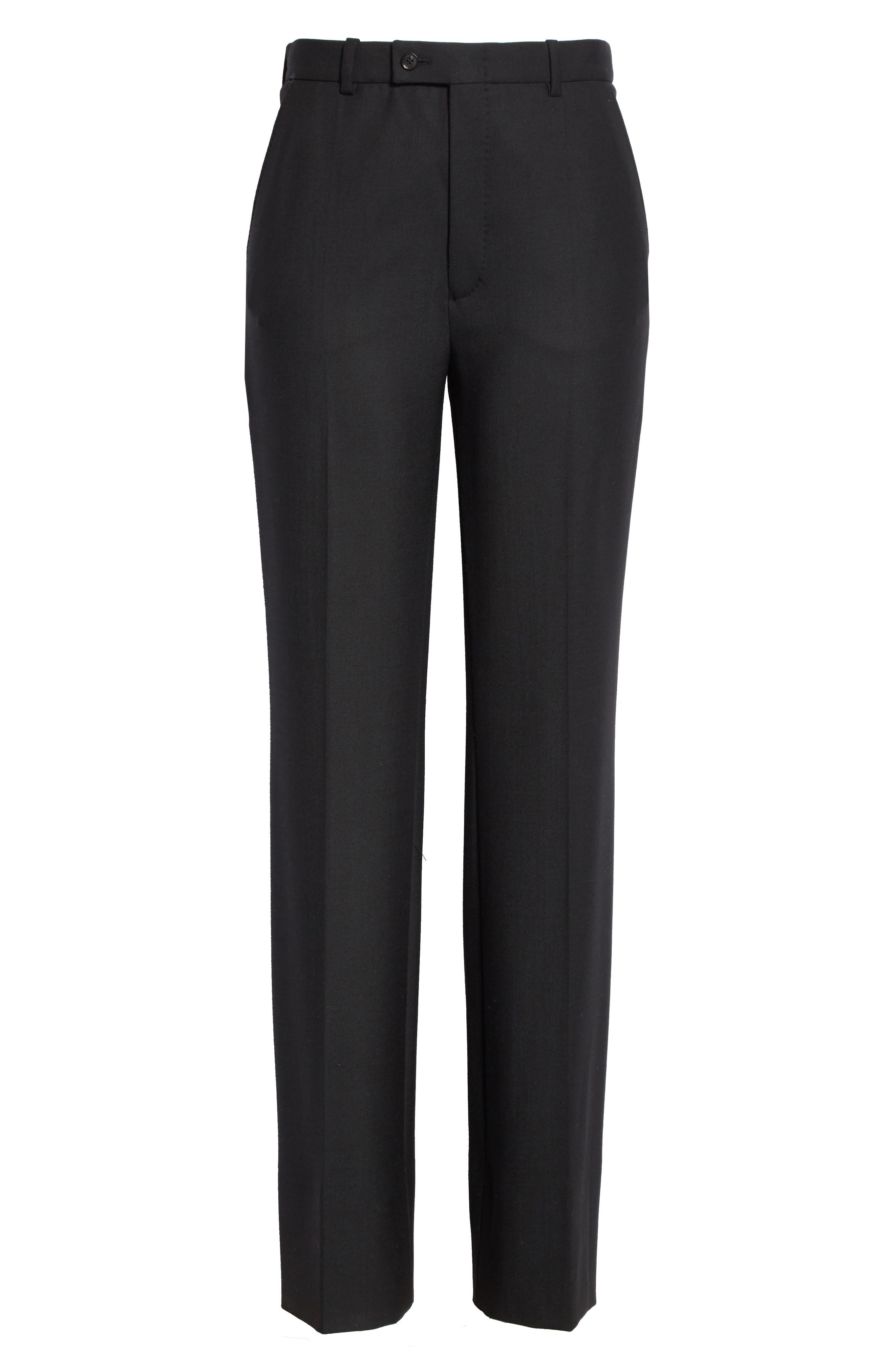 Tropez Wide Leg Trousers,                             Alternate thumbnail 6, color,                             Black