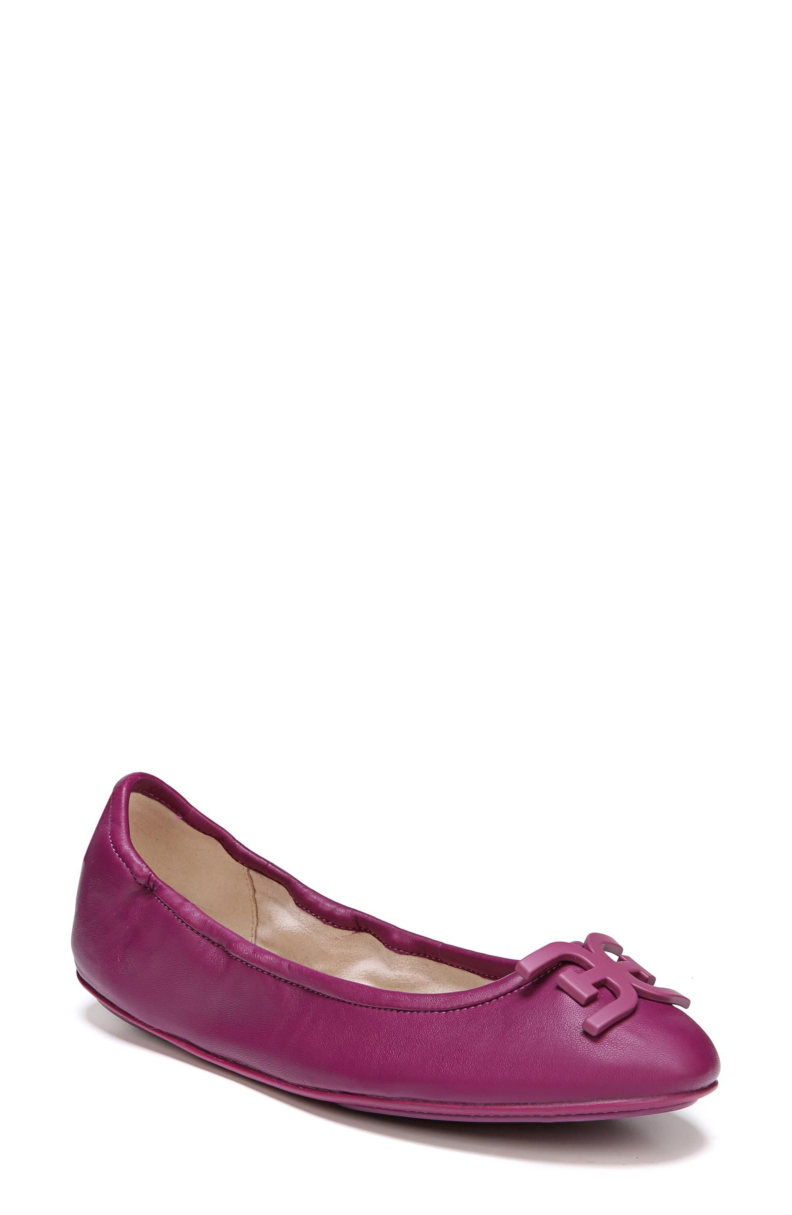 Florence Ballet Flat,                         Main,                         color, Mulberry Pink Leather