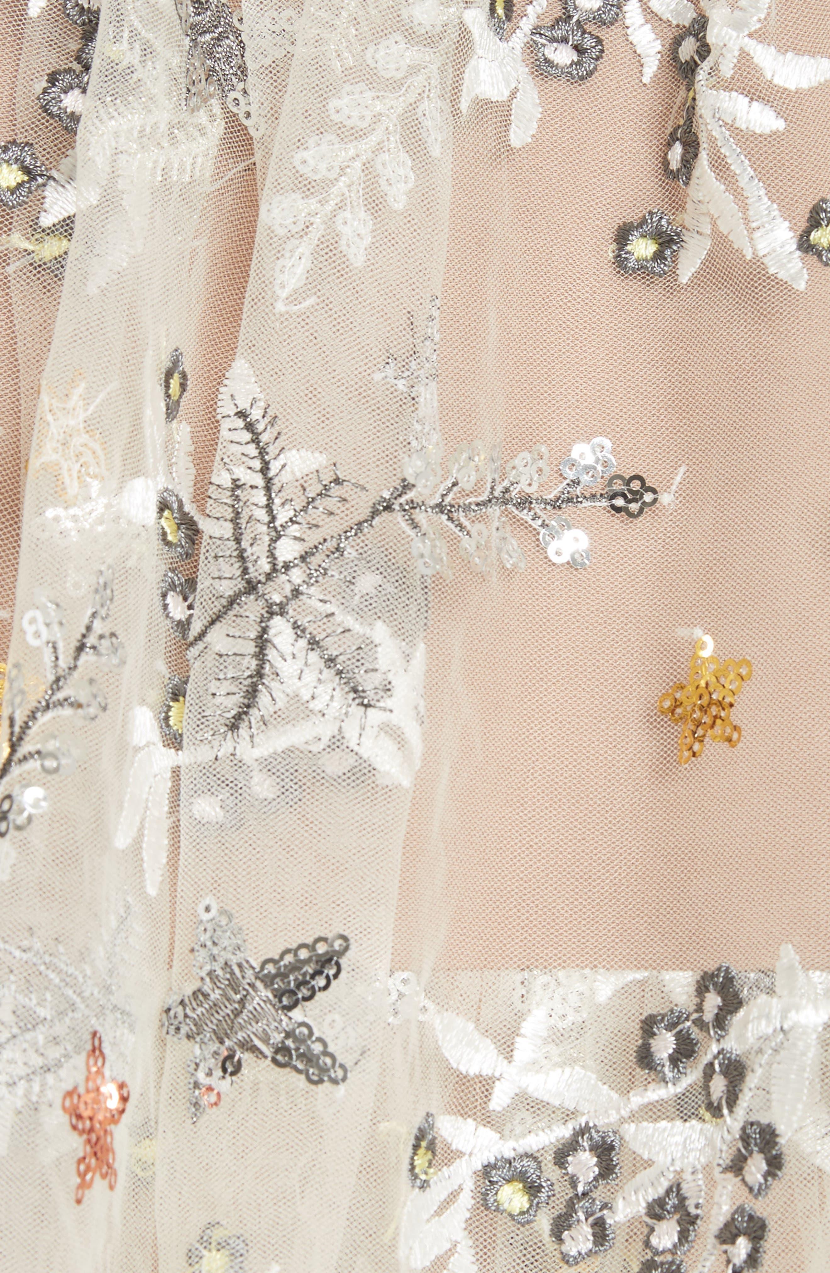 Alternate Image 5  - Self-Portrait Sequin Mesh Tie Strap Midi Dress