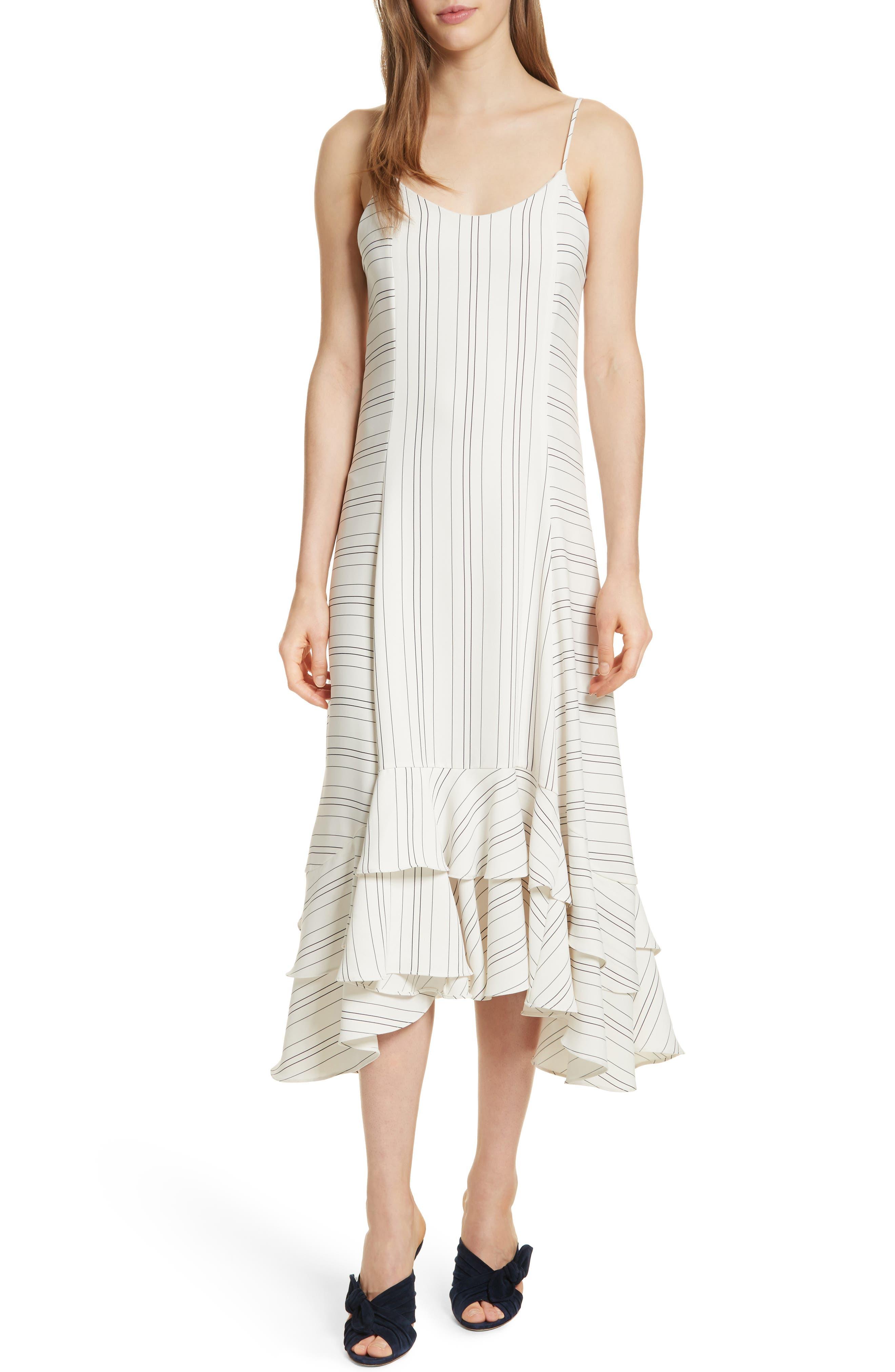 Prose & Poetry Skylar Flare Midi Dress,                         Main,                         color, Light Ecru