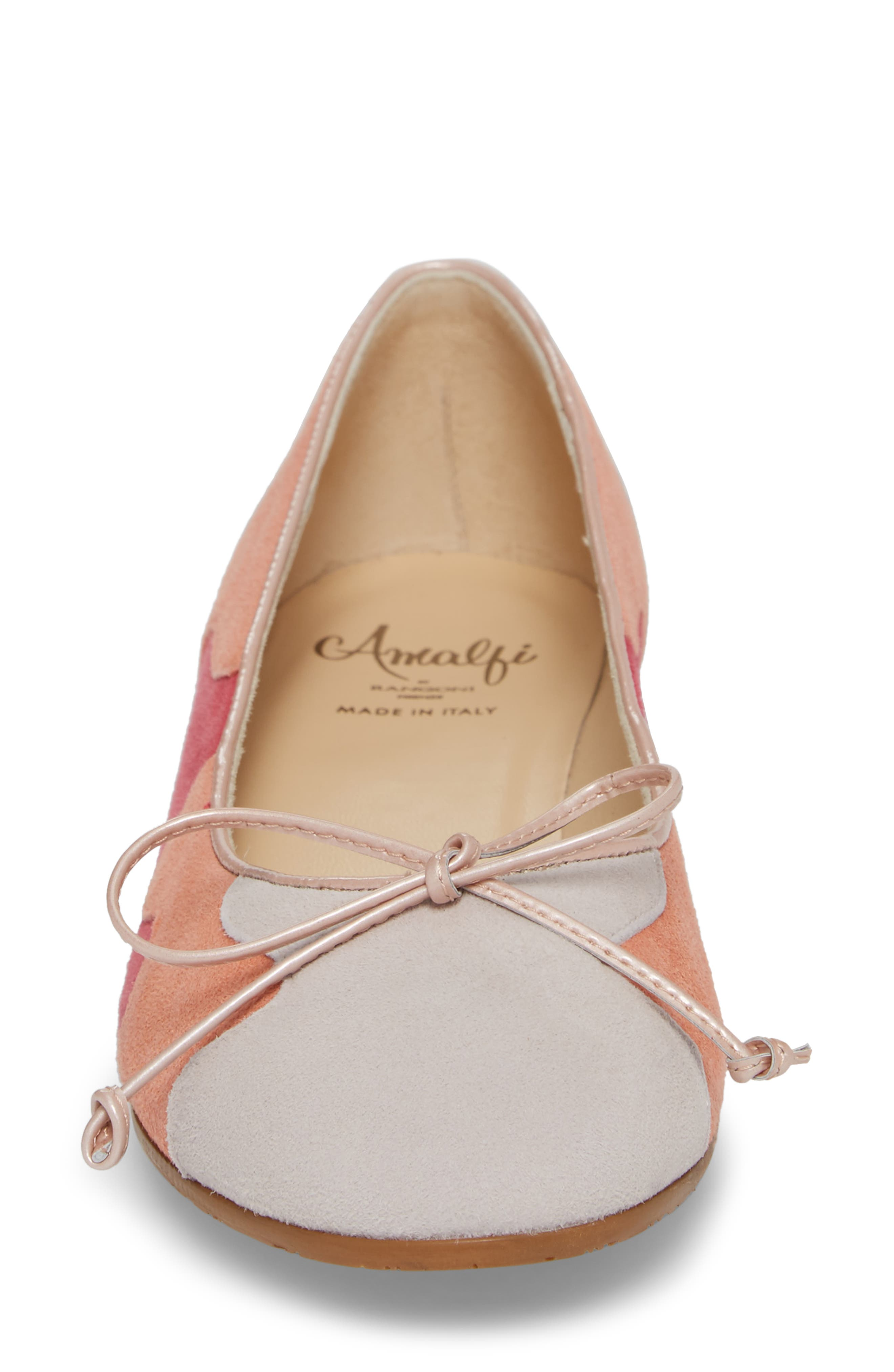 Ginevra Flat,                             Alternate thumbnail 4, color,                             Beige Suede