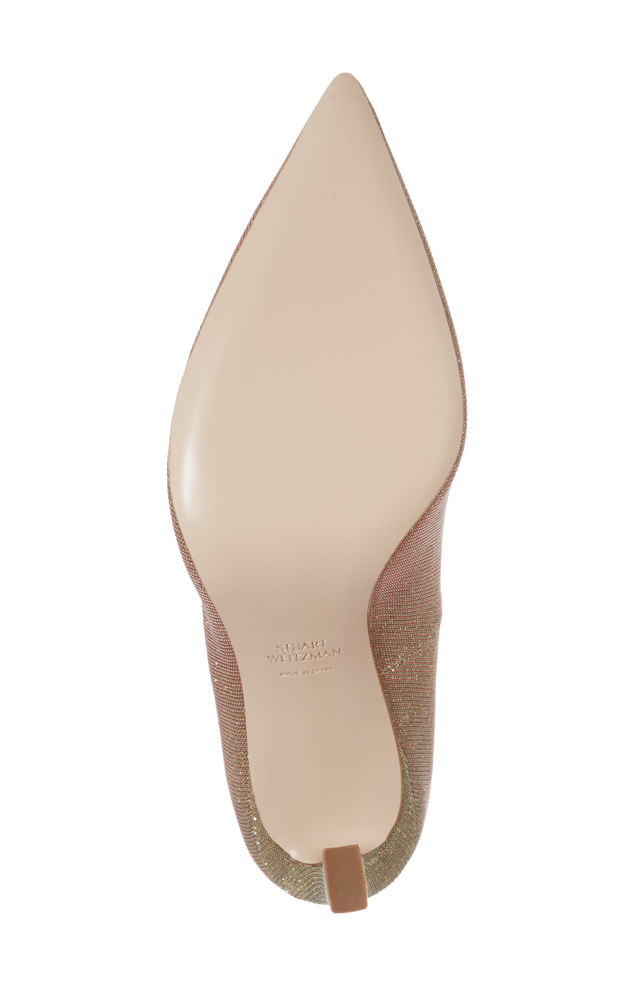 Chicster Pointy Toe Pump,                             Alternate thumbnail 6, color,                             Gold Multi Nighttime