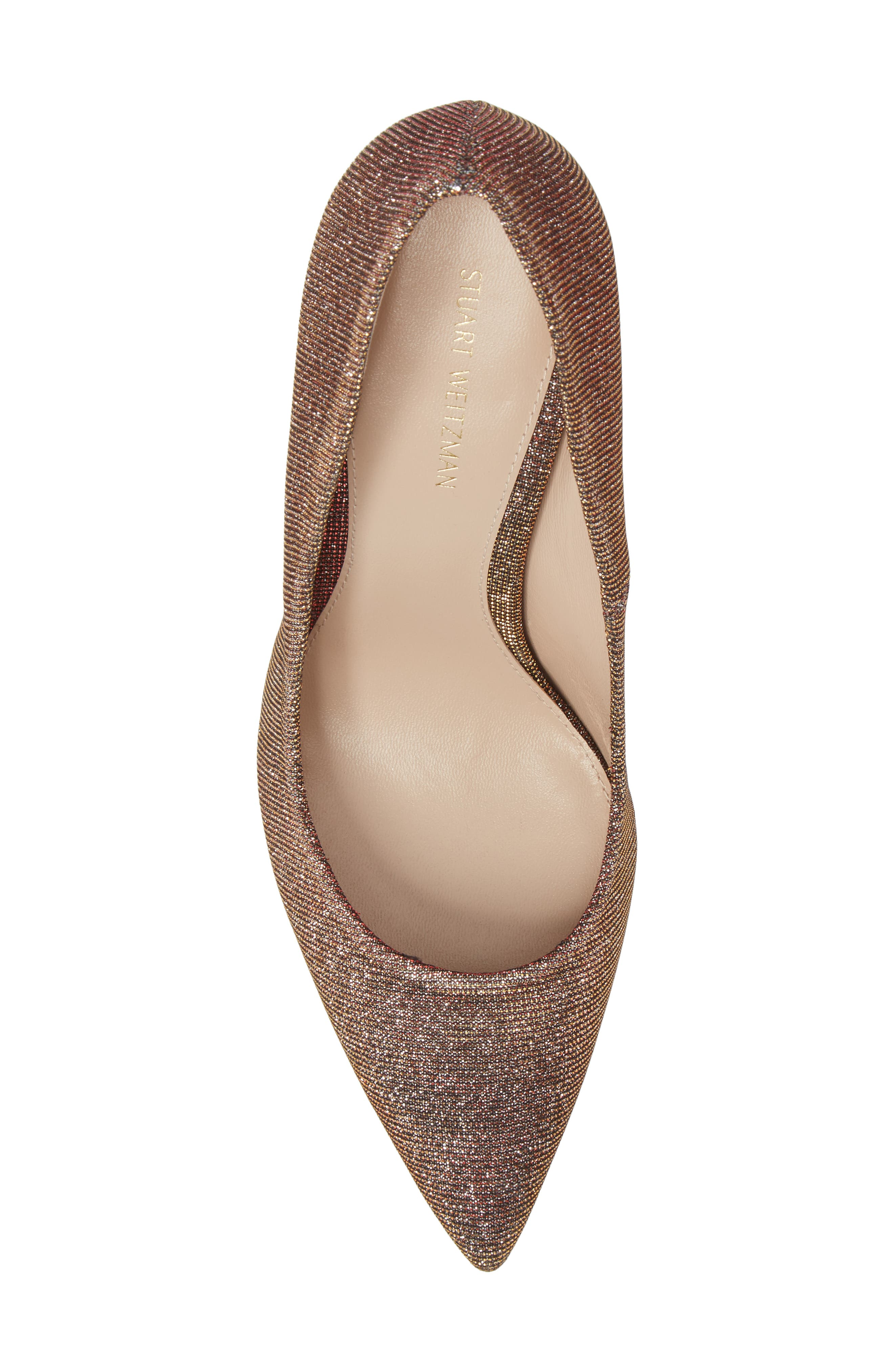 Chicster Pointy Toe Pump,                             Alternate thumbnail 5, color,                             Bronze Nighttime