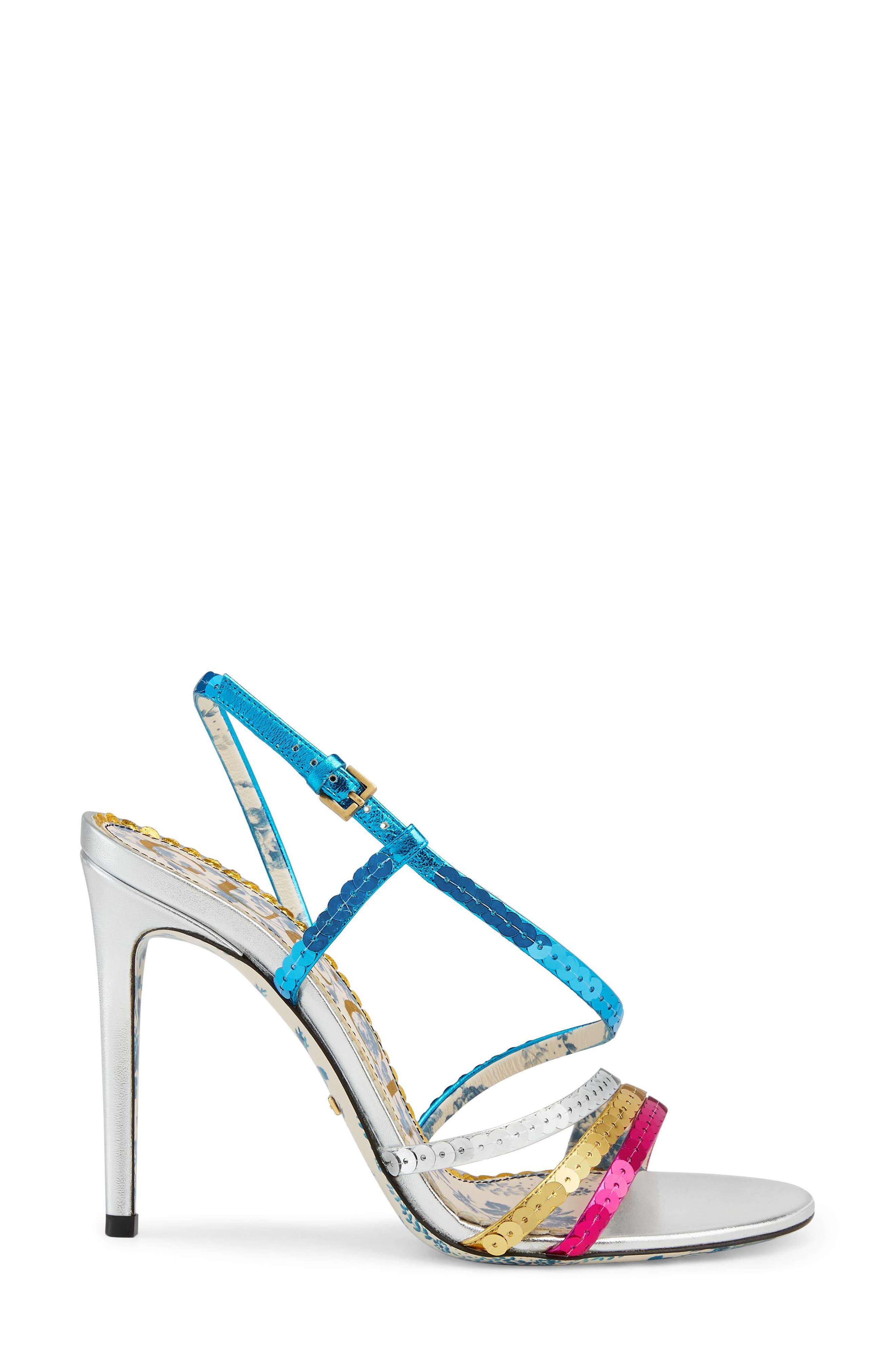 Sequin Sandal,                             Alternate thumbnail 2, color,                             Silver/ Blue/ Pink