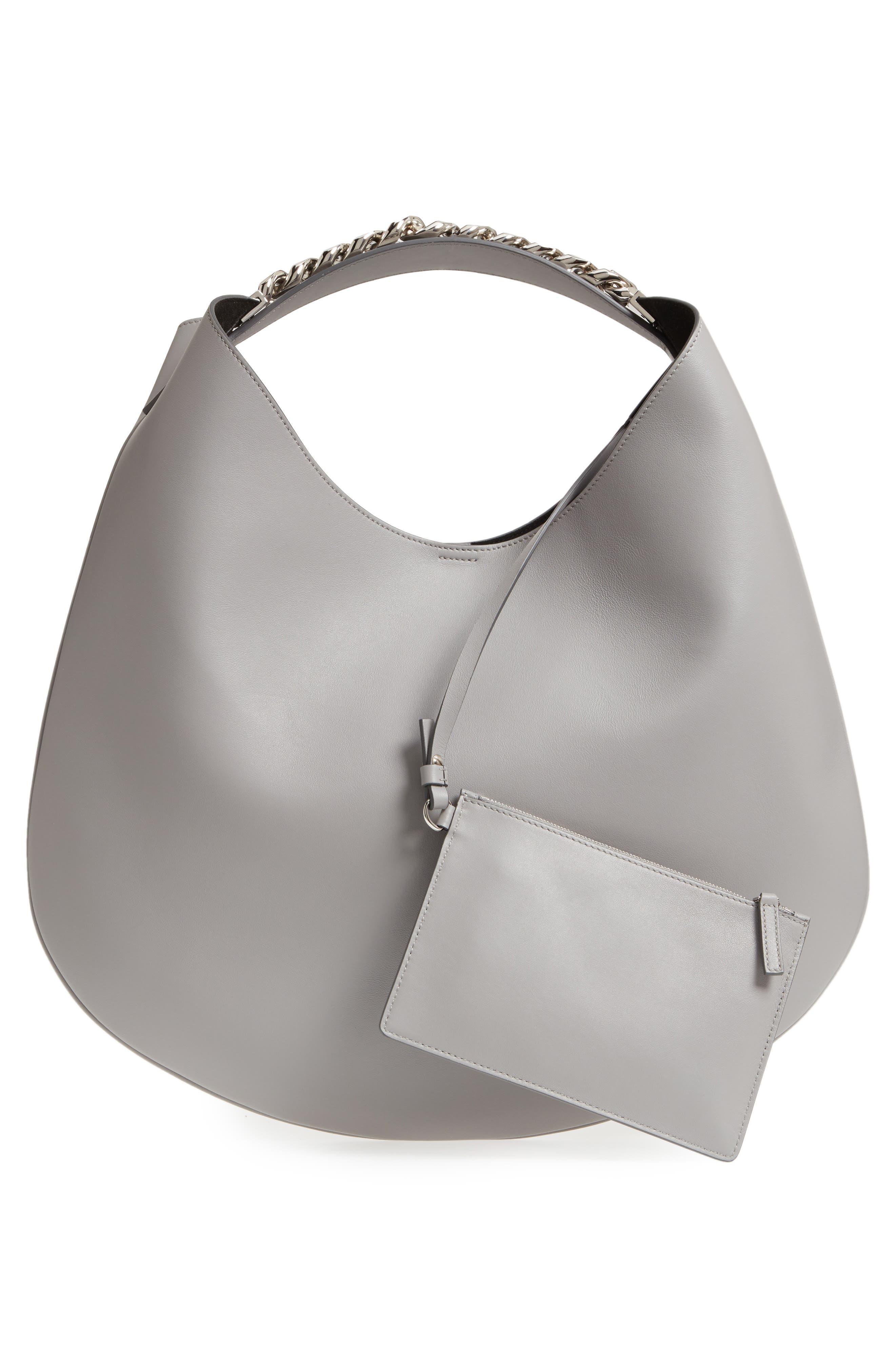 Medium Infinity Calfskin Leather Hobo,                             Alternate thumbnail 2, color,                             Pearl Grey