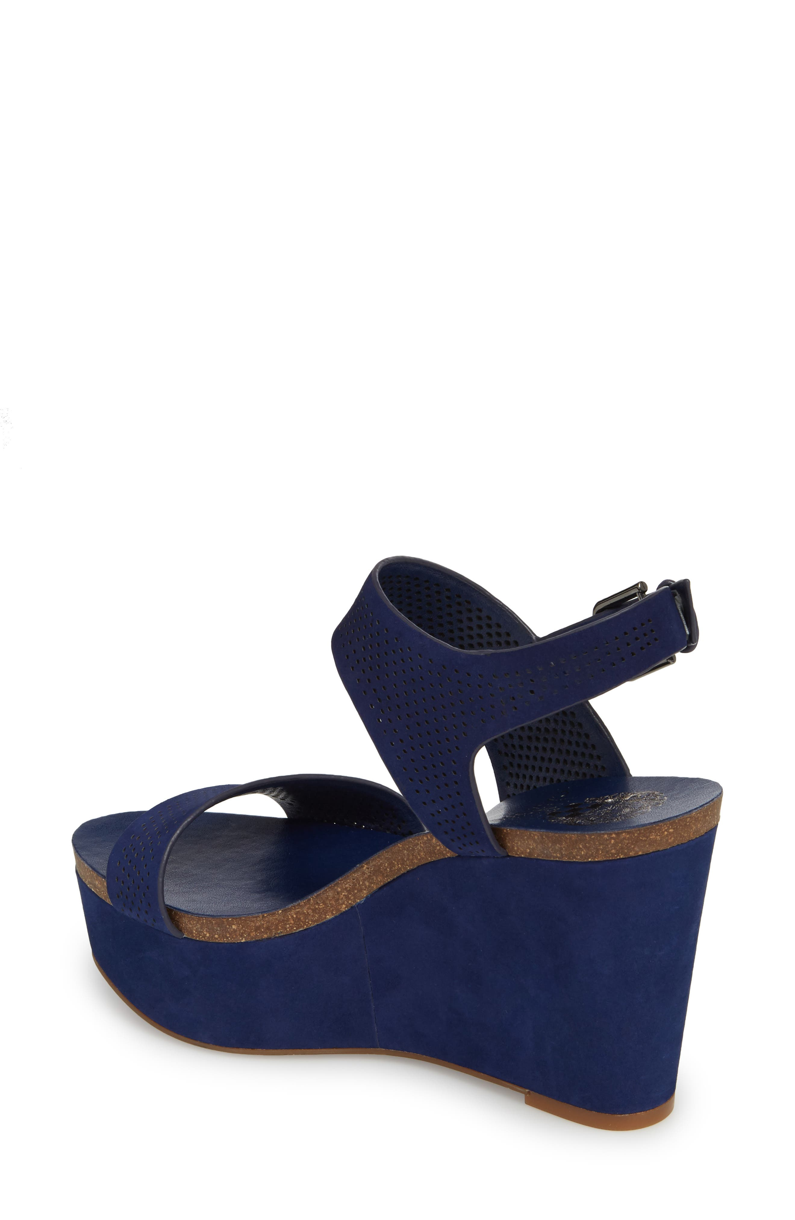 Vessinta Platform Wedge,                             Alternate thumbnail 2, color,                             Moody Blue Leather
