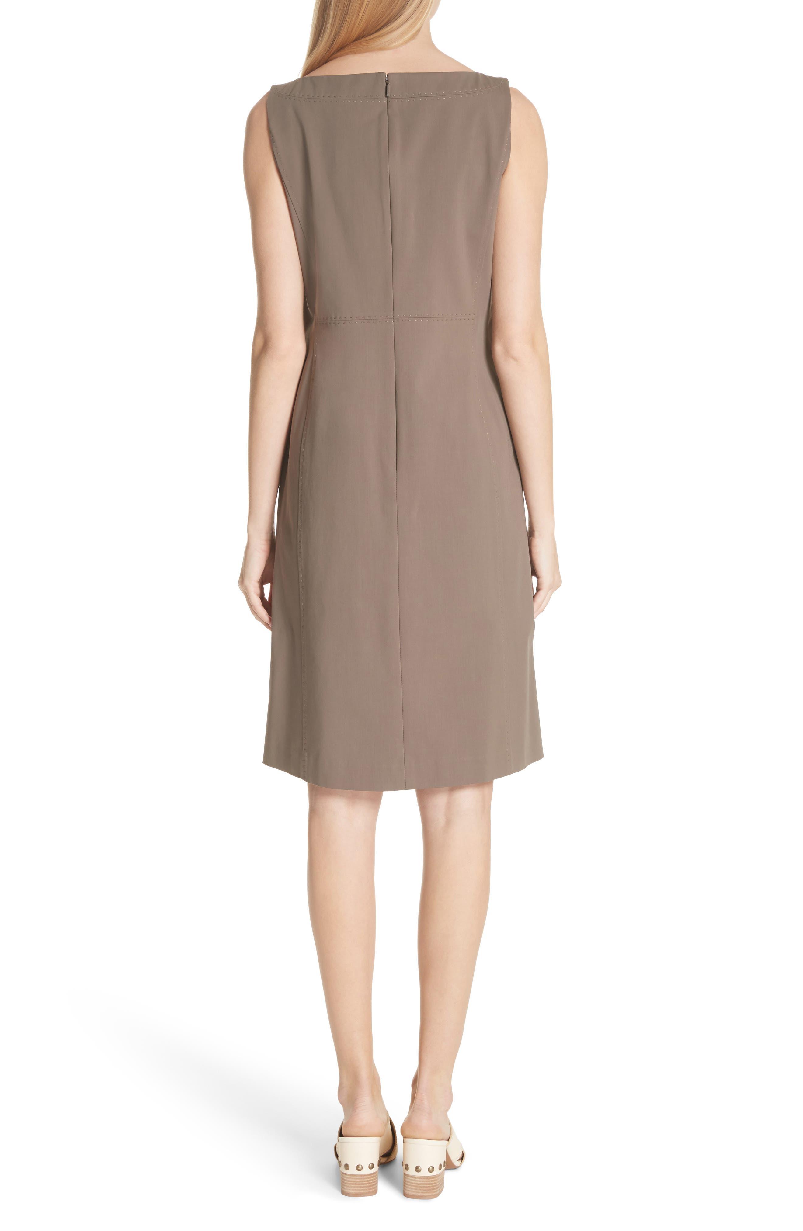 Paxton Sleeveless Sheath Dress,                             Alternate thumbnail 2, color,                             Nougat
