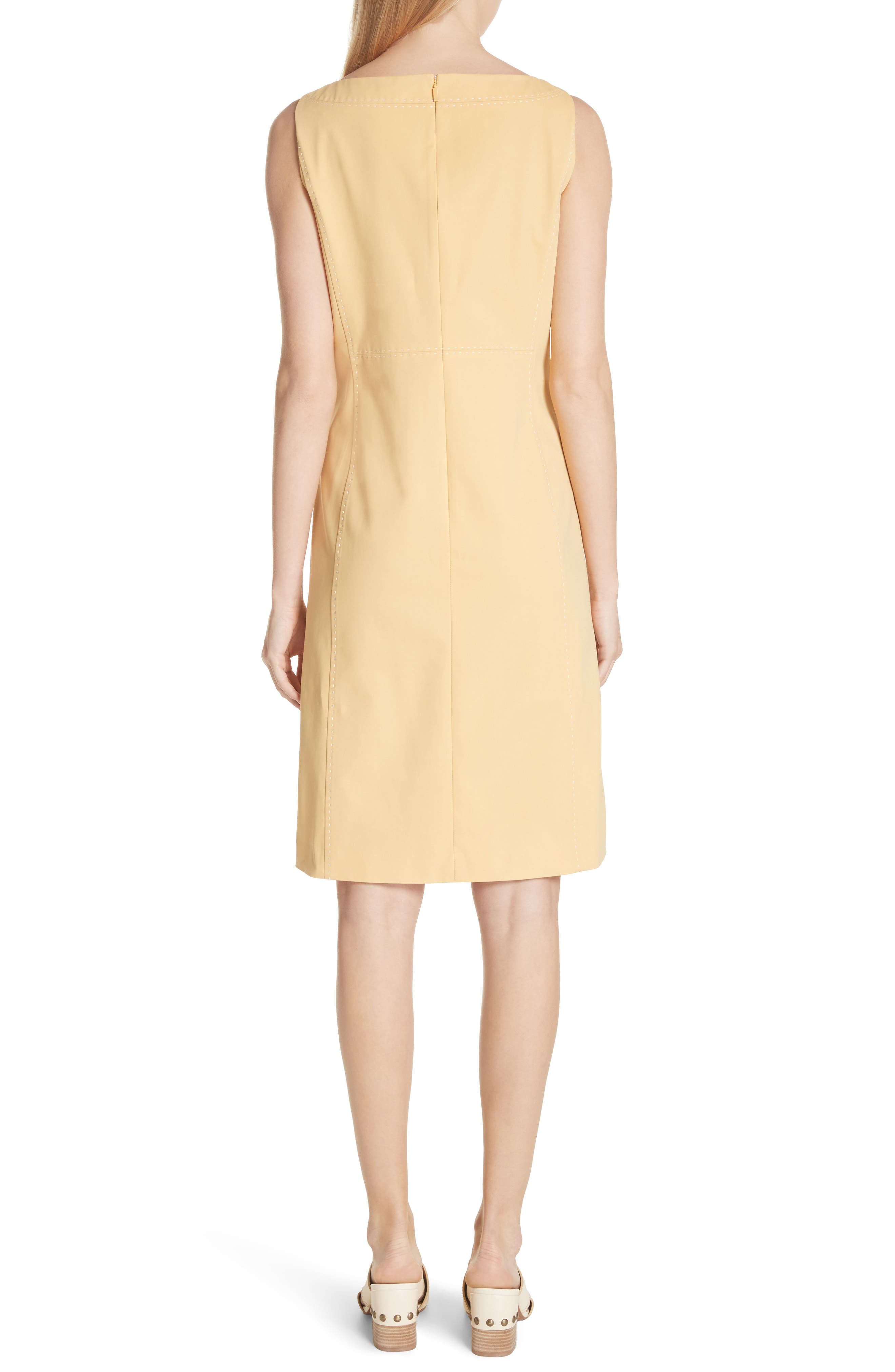 Paxton Sleeveless Sheath Dress,                             Alternate thumbnail 2, color,                             Sienna Yellow