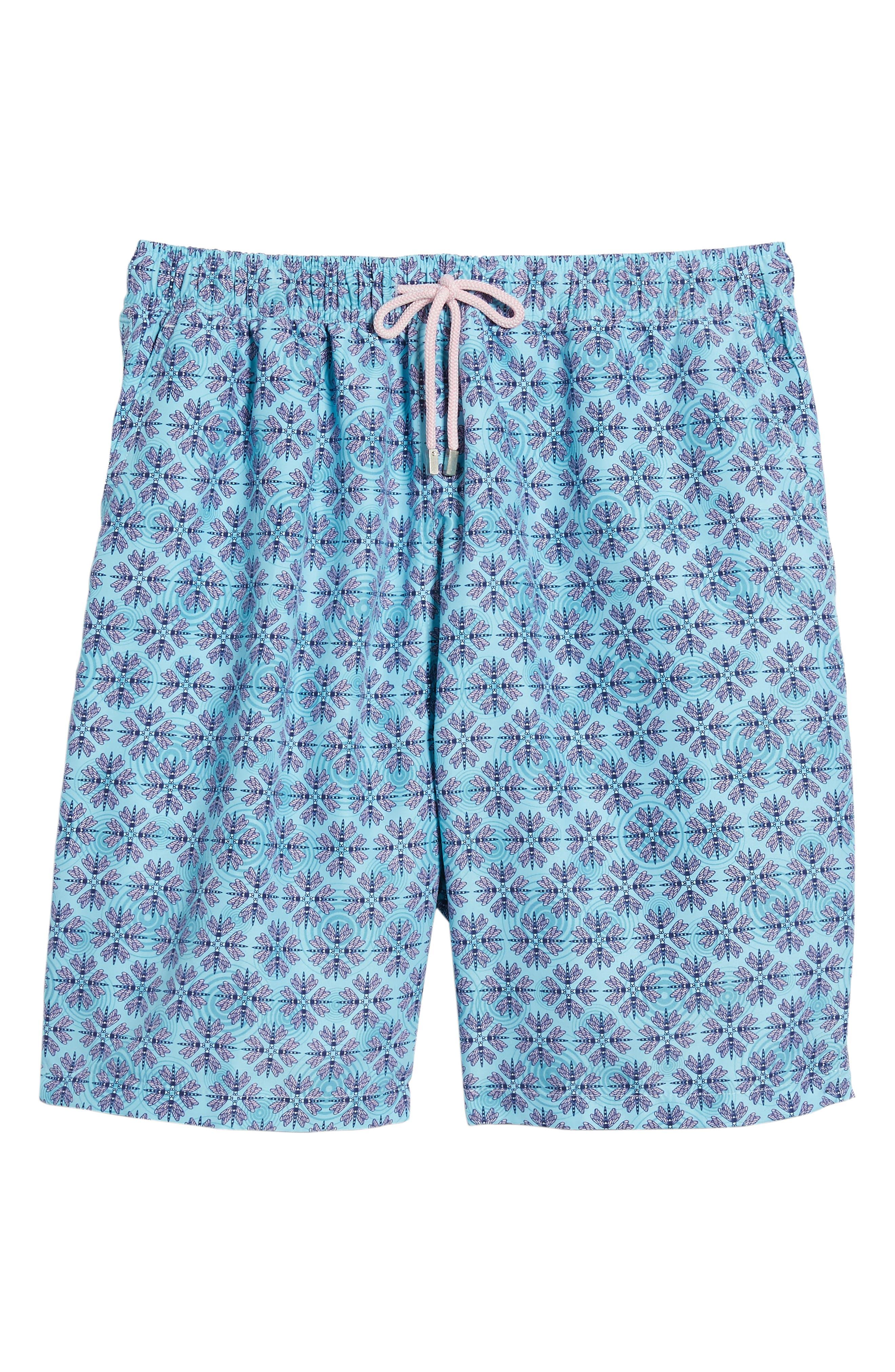 Dragonflies Swim Shorts,                             Alternate thumbnail 6, color,                             Watercress