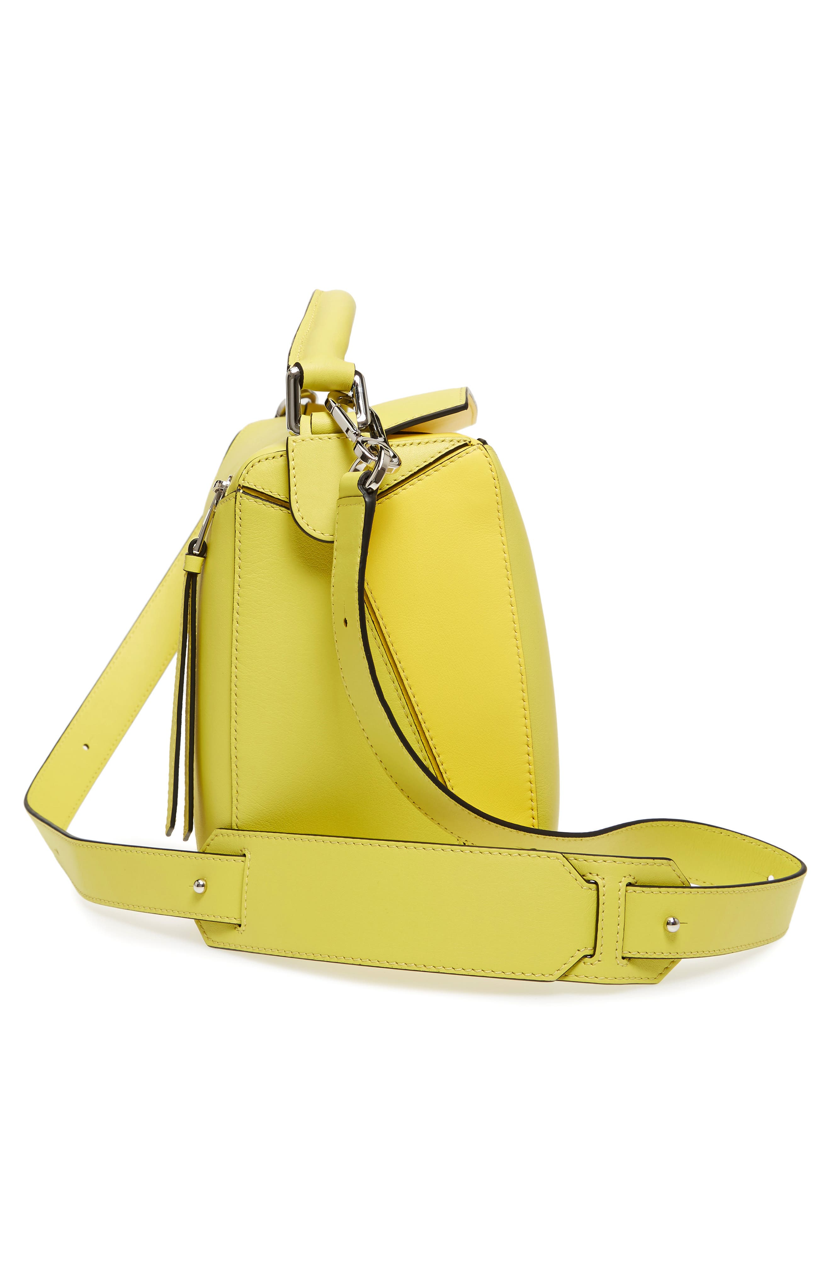 Medium Puzzle Calfskin Leather Shoulder Bag,                             Alternate thumbnail 6, color,                             Yellow Multitone