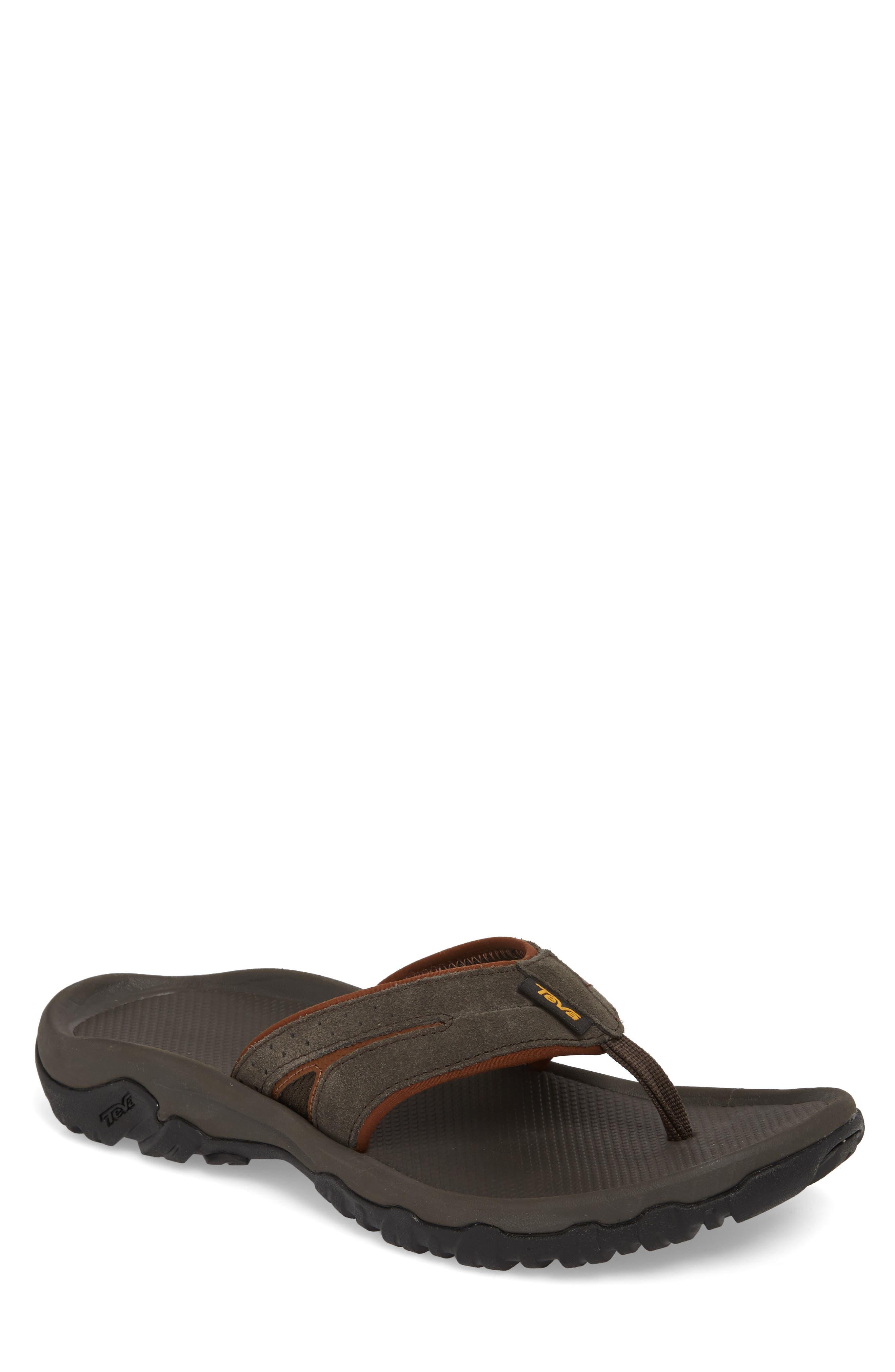 Katavi 2 Flip Flop,                         Main,                         color, Black/ Olive Suede