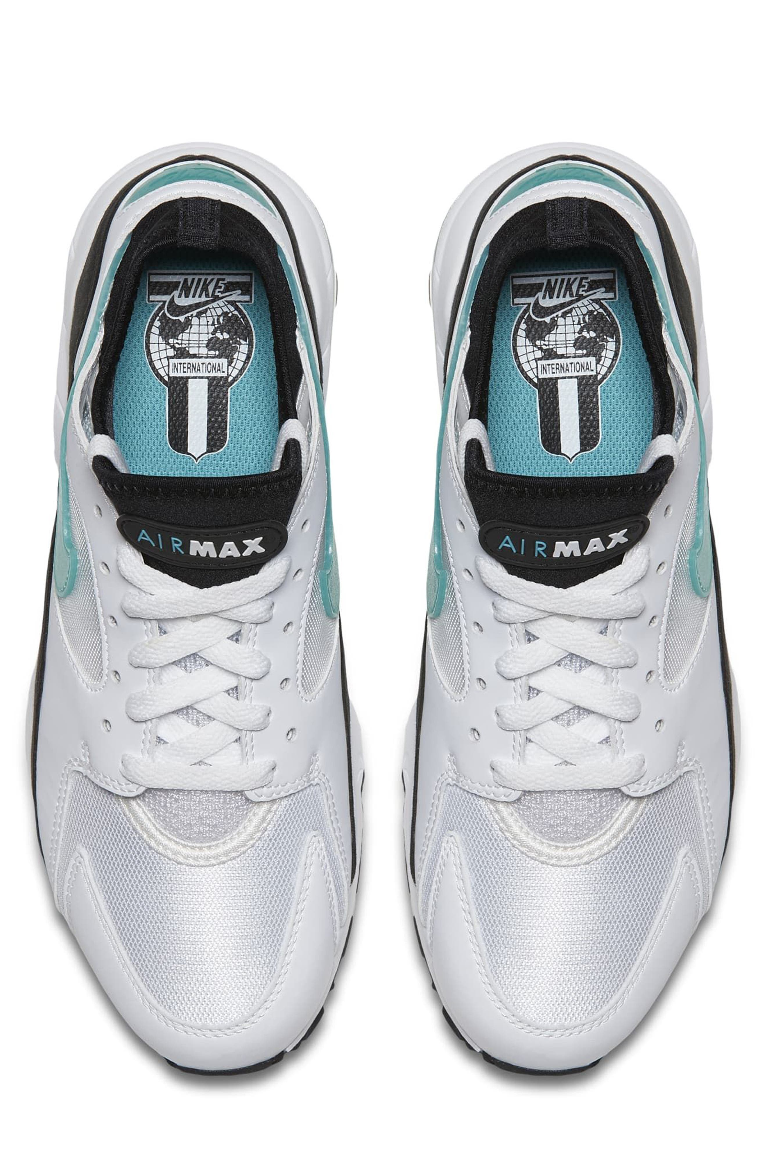 Air Max 93 Sneaker,                             Alternate thumbnail 4, color,                             White/ Dusty Cactus