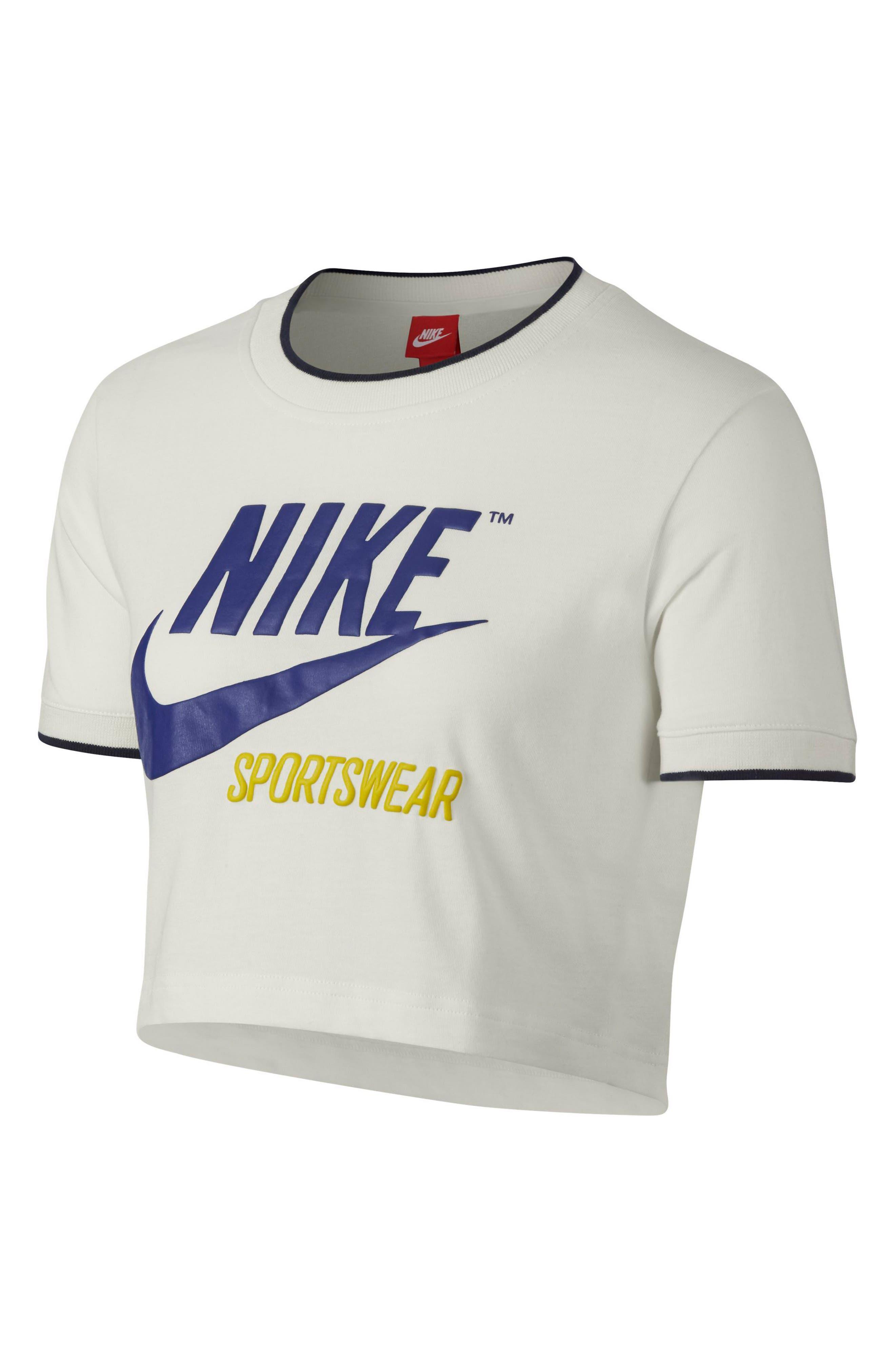 Sportswear Crop Top,                             Alternate thumbnail 6, color,                             Sail