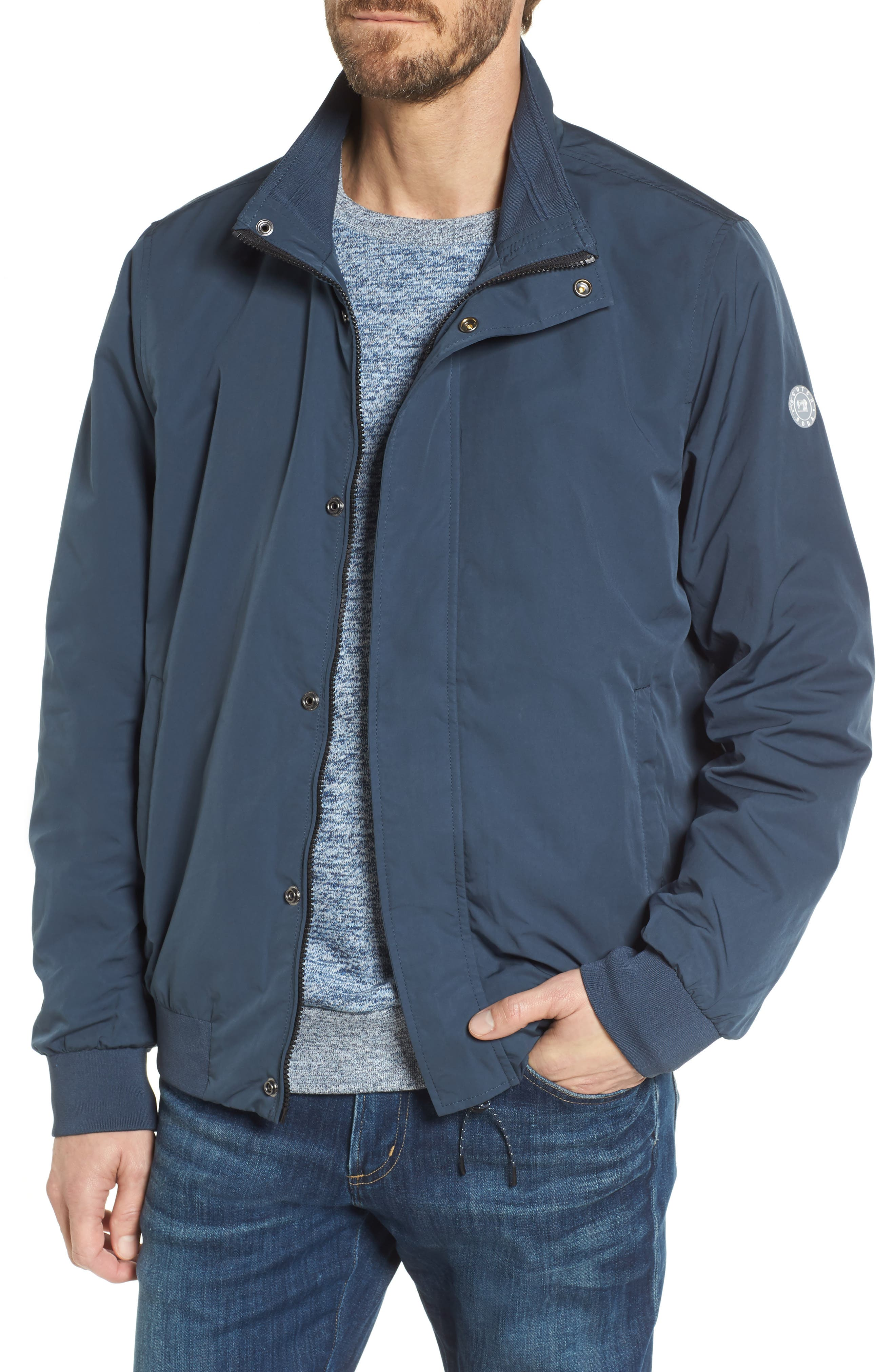 Classic Bomber Jacket,                         Main,                         color, Steel
