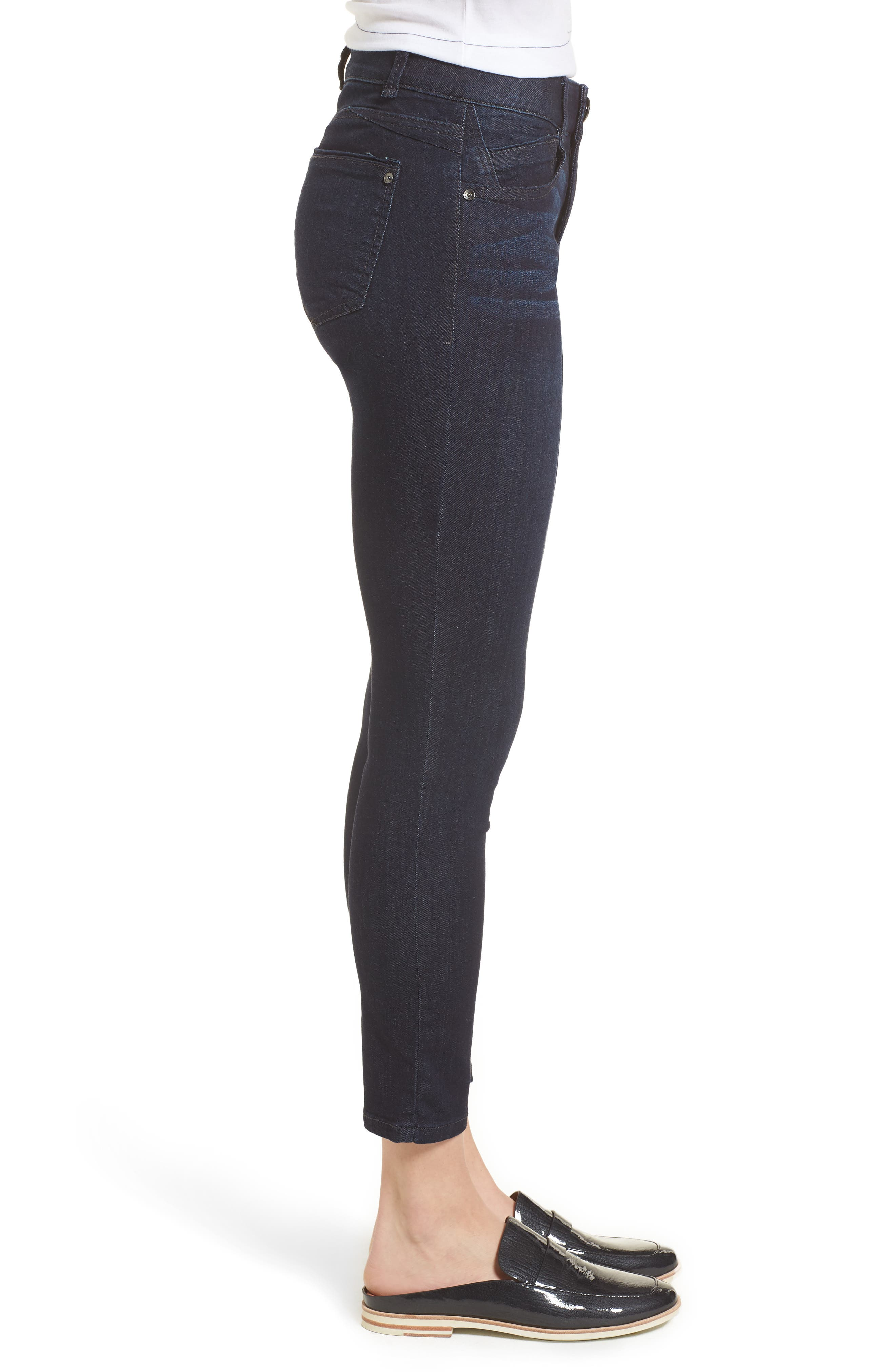 Ab-solution Ankle Skimmer Jeans,                             Alternate thumbnail 3, color,                             In- Indigo
