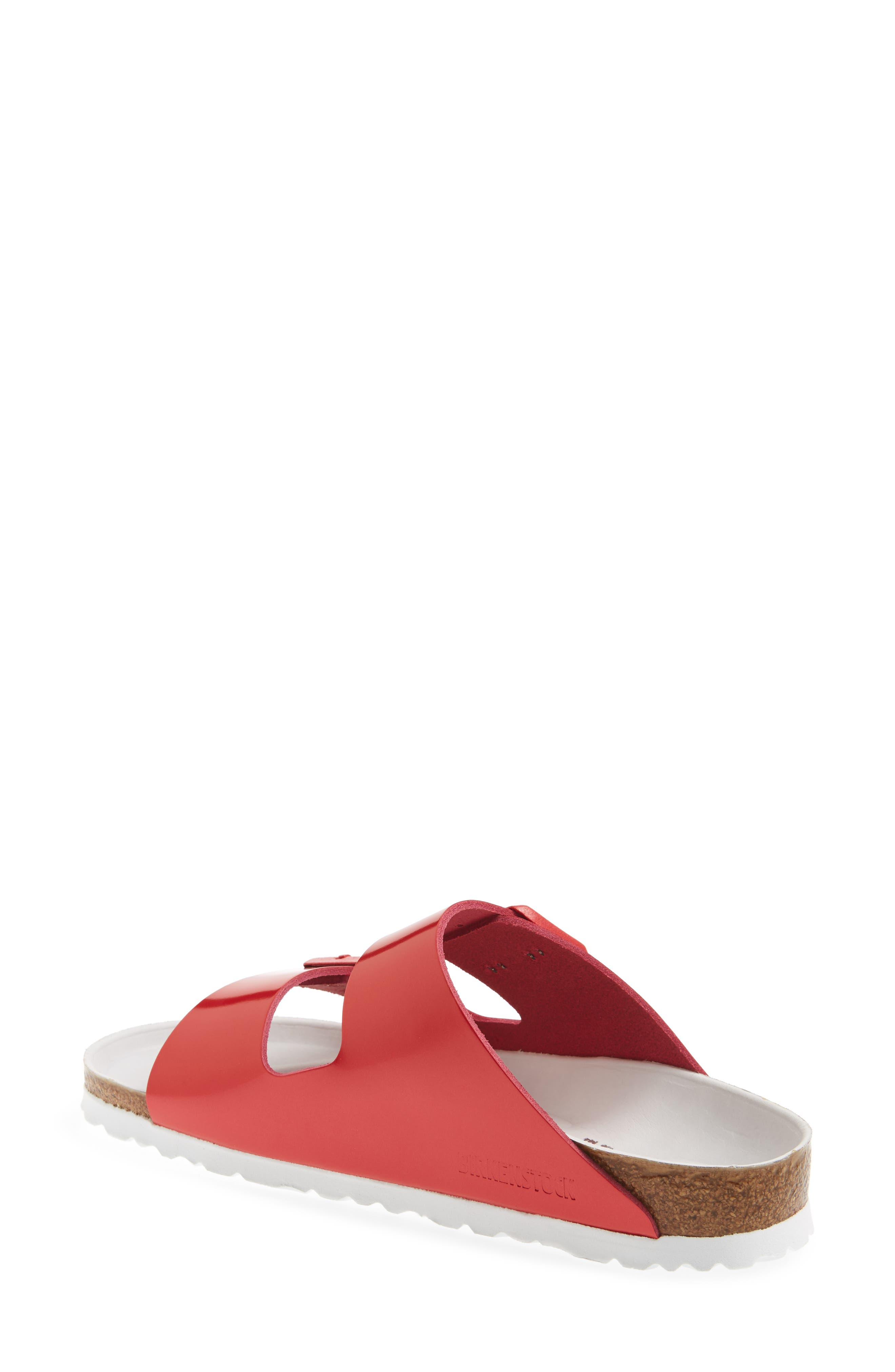 Arizona Hex Limited Edition - Shock Drop Slide Sandal,                             Alternate thumbnail 2, color,                             Red Spectacular Leather